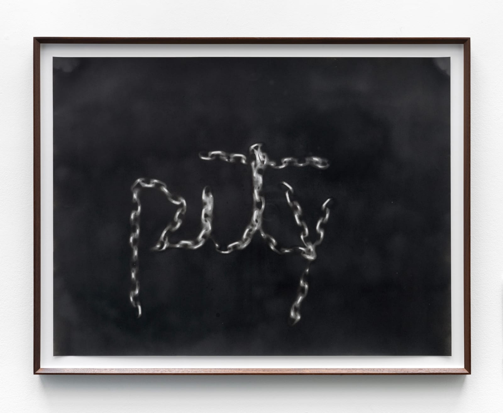 Monica Bonvicini (b. 1965) Pity, 2013 spray paint on Fabriano paper 23 5/8 x 32 1/4 in (60 x 82 cm) framed: 27 x 35 1/8 x 1 5/8 in (68.5 x 89 x 4 cm) (BON7750)