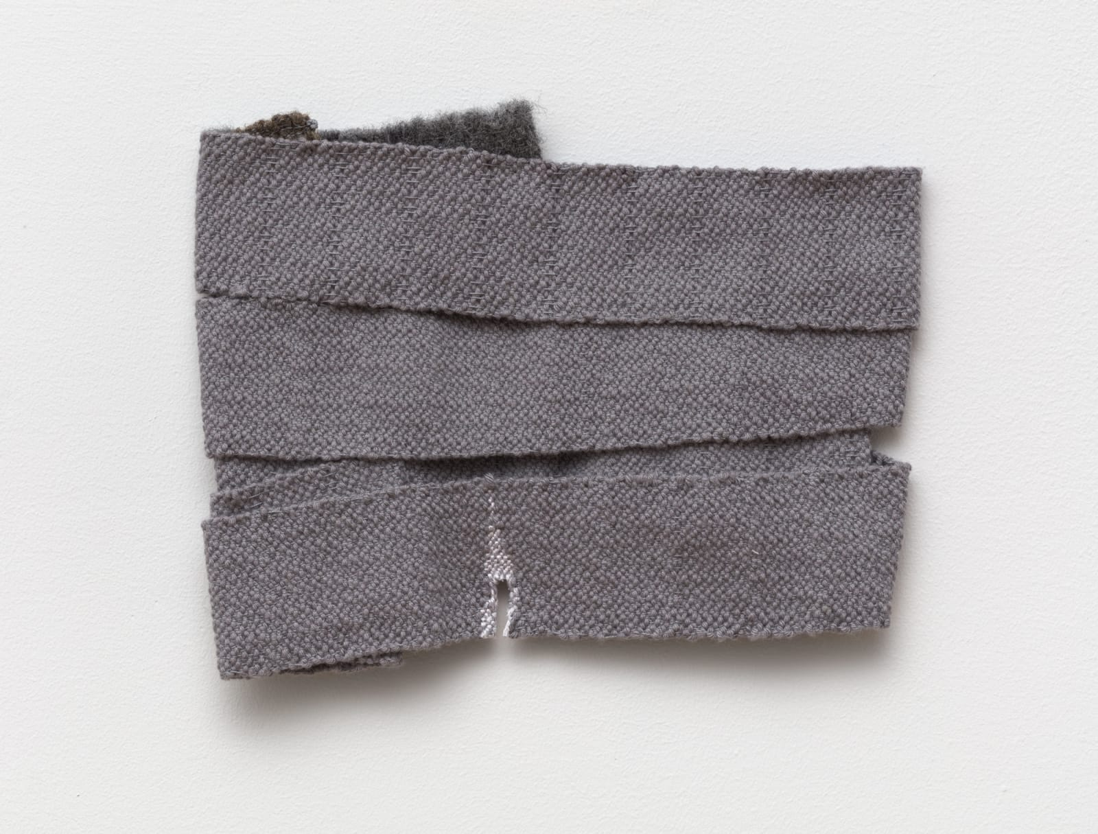Hana Miletić (b. 1982) Materials, 2019 hand-woven textile 6 5/8 x 8 5/8 x 1/8 in (16.8 x 21.9 x 0.3 cm) (MIL7817)
