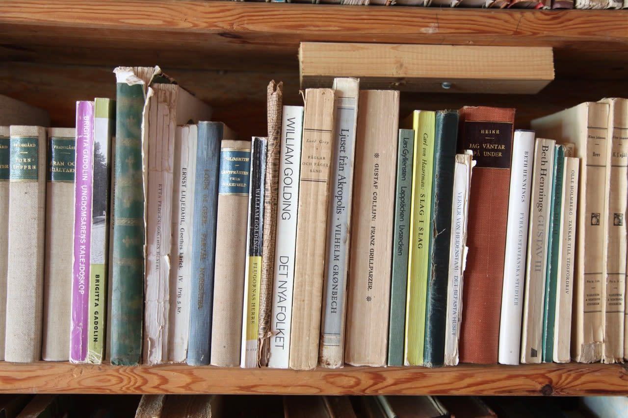 The bookshelf of