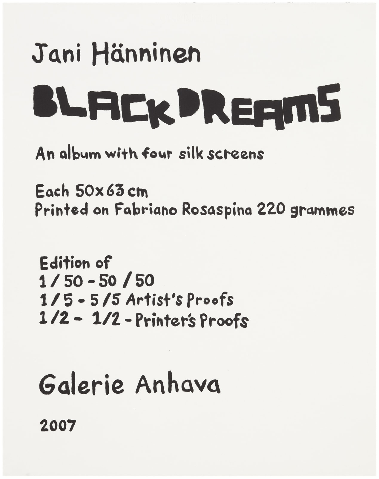 Full album with four prints € 600