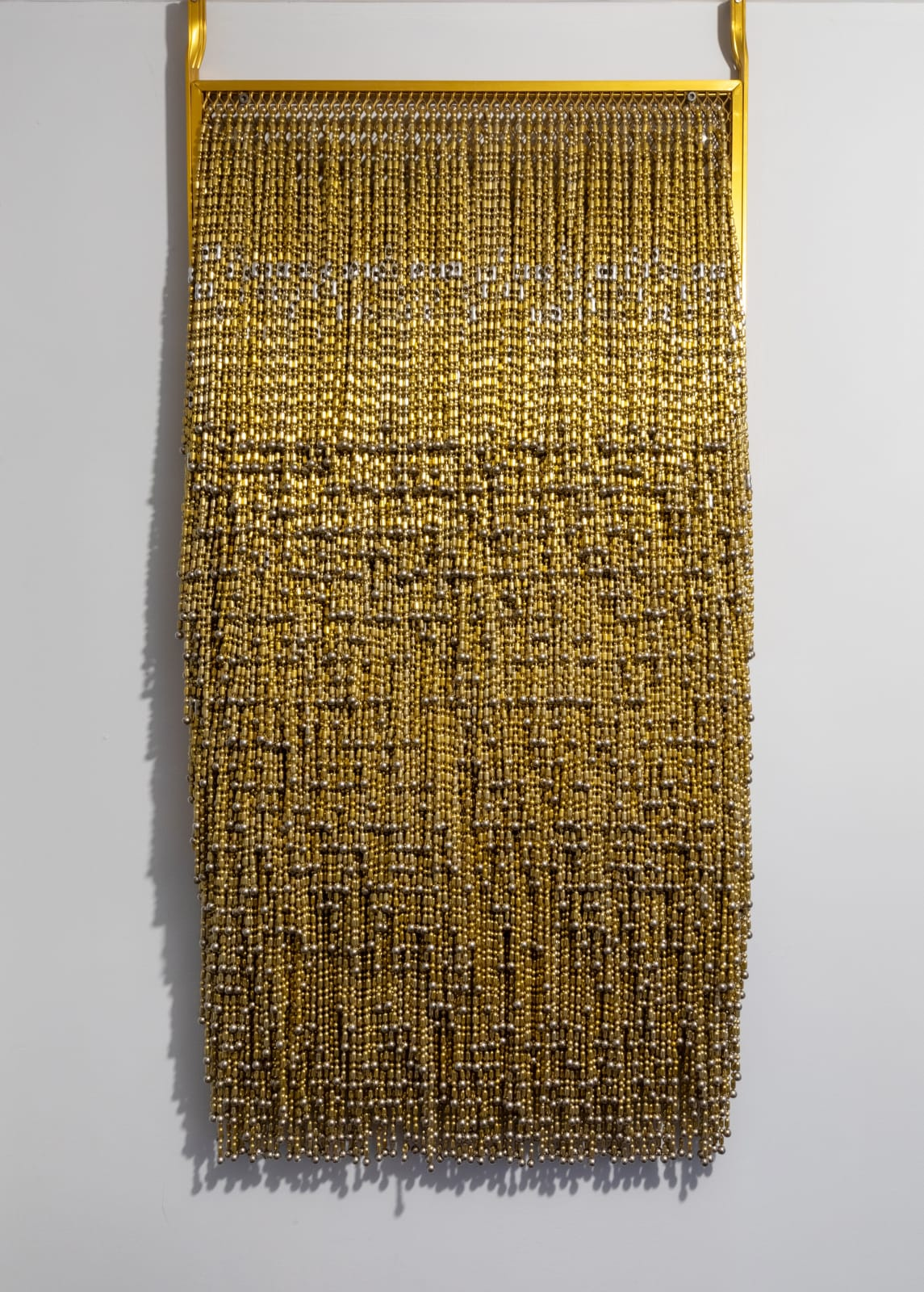 Alice Hope Untitled, 2020 Ball chain, anodized door screen 20 x 43 in. (AHo 37) $9,000