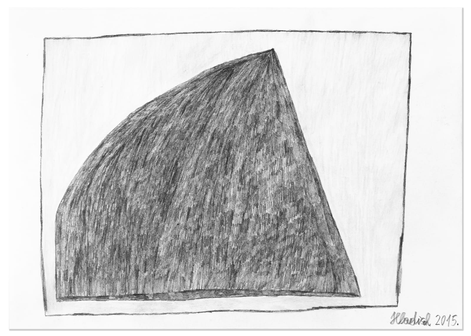 PYRAMID, 2015 Graphite and colored pencil on paper 8.2 x 11.7 in. (20.9 x 29.6 cm) HH 18 $2,650