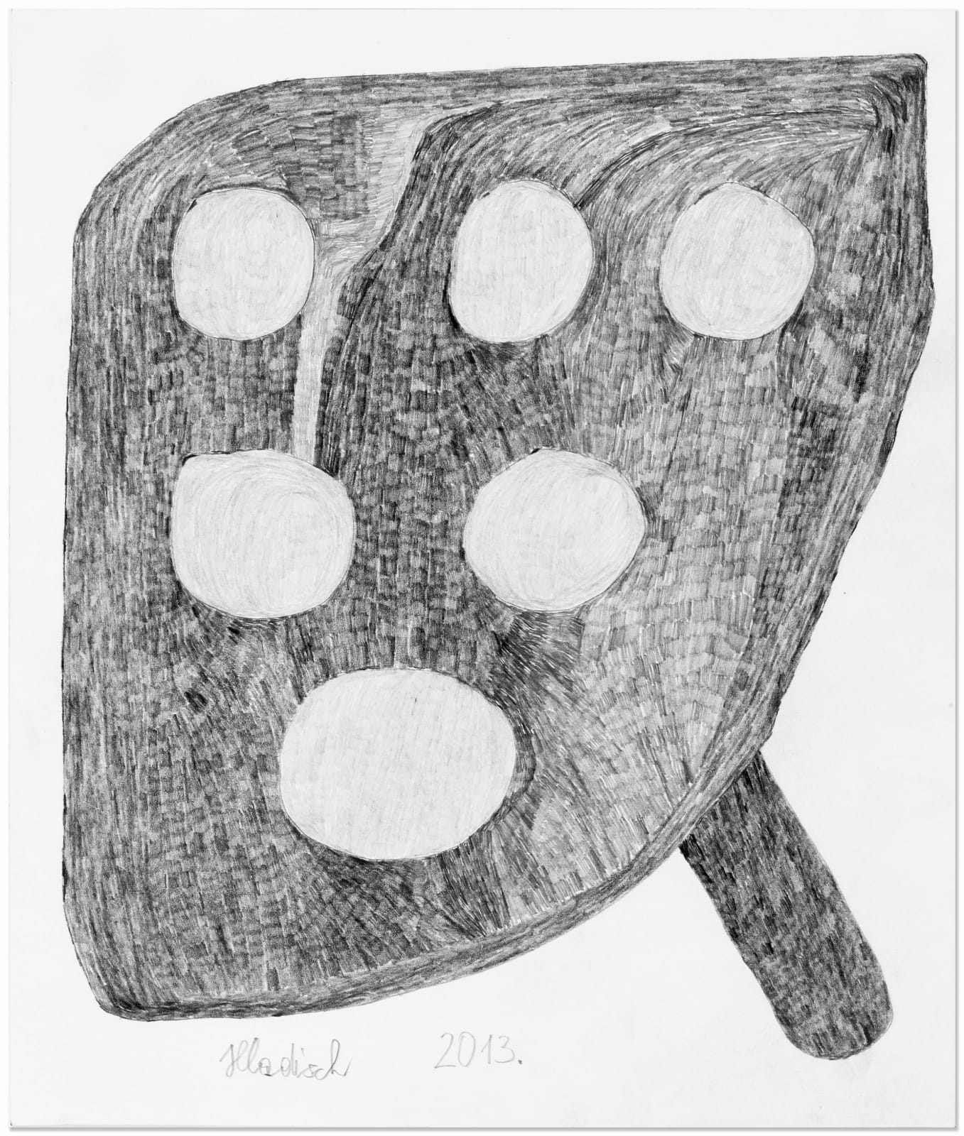 PAN, 2013 Graphite on paper 13 x 11 in. (33.1 x 28 cm) HH 3 $3,000