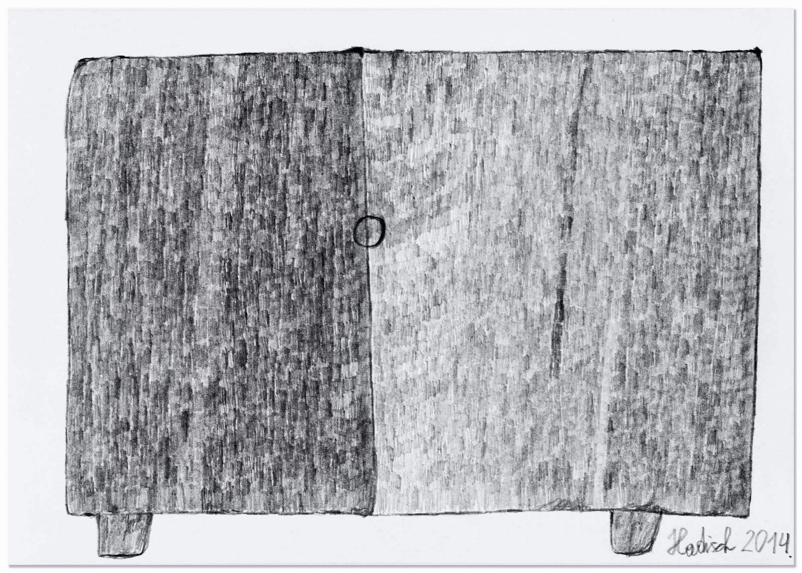 CUPBOARD, 2014 Graphite on paper 5.9 x 8.3 in. (14.9 x 21cm) HH 6 $1,800