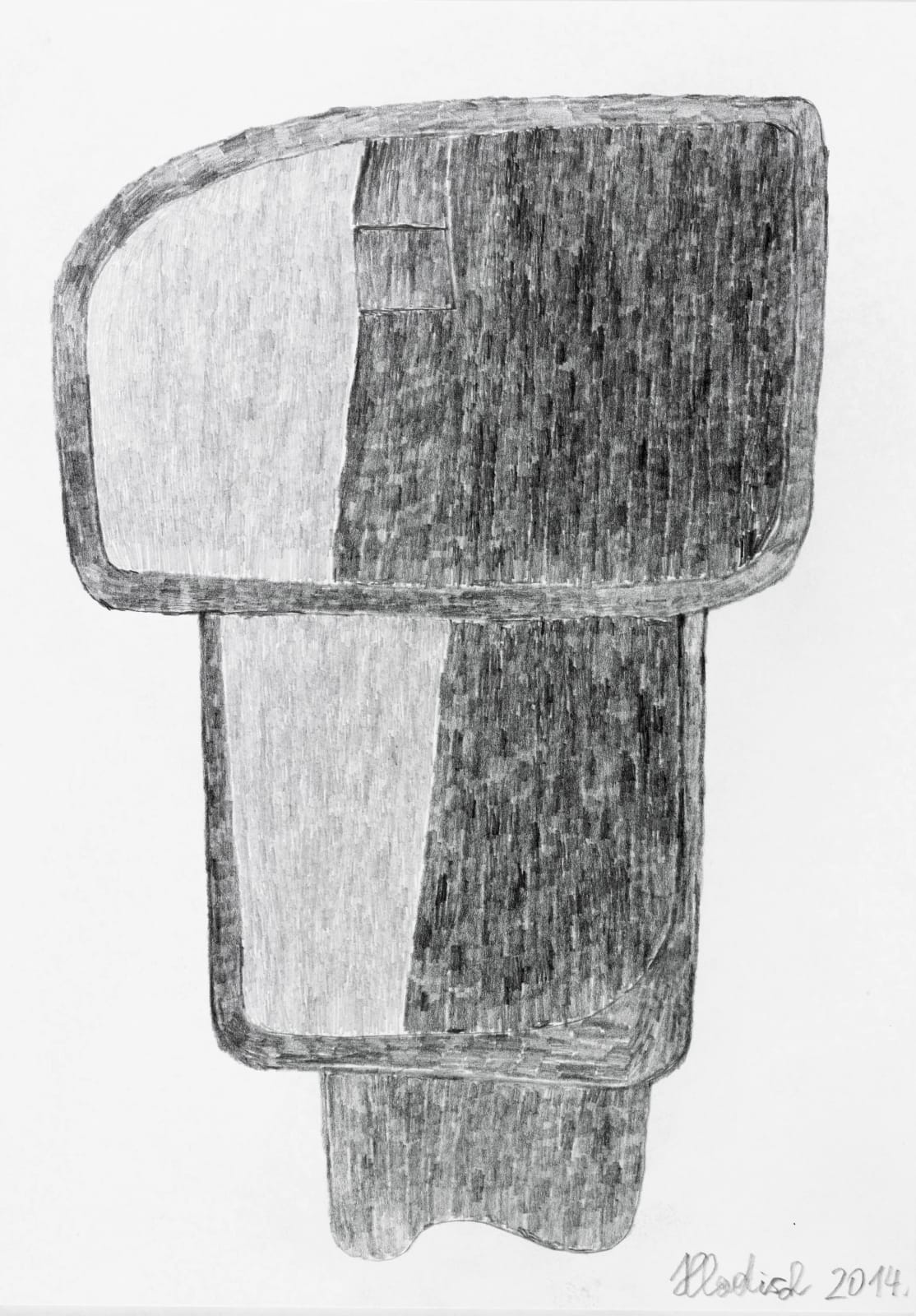 TOILET, 2014 Graphite on paper 11.7 x 8.3 in. (29.7 x 21 cm) HH 8 $2,650