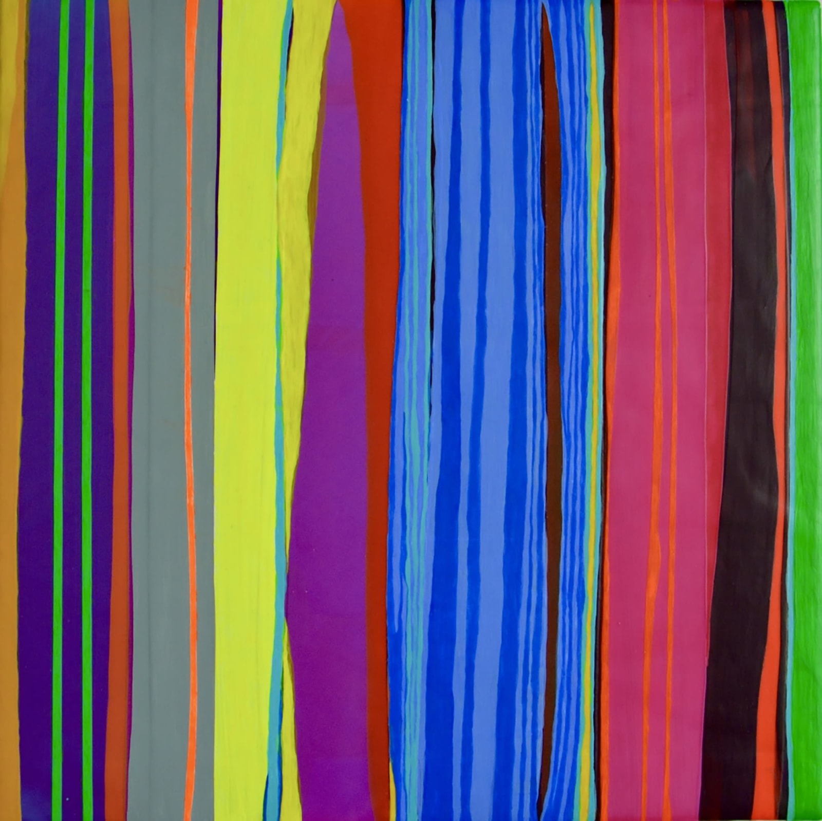 STRIPES, 2016 Acrylic on wood panel 12 x 12 in 30.5 x 30.5 cm HS 44
