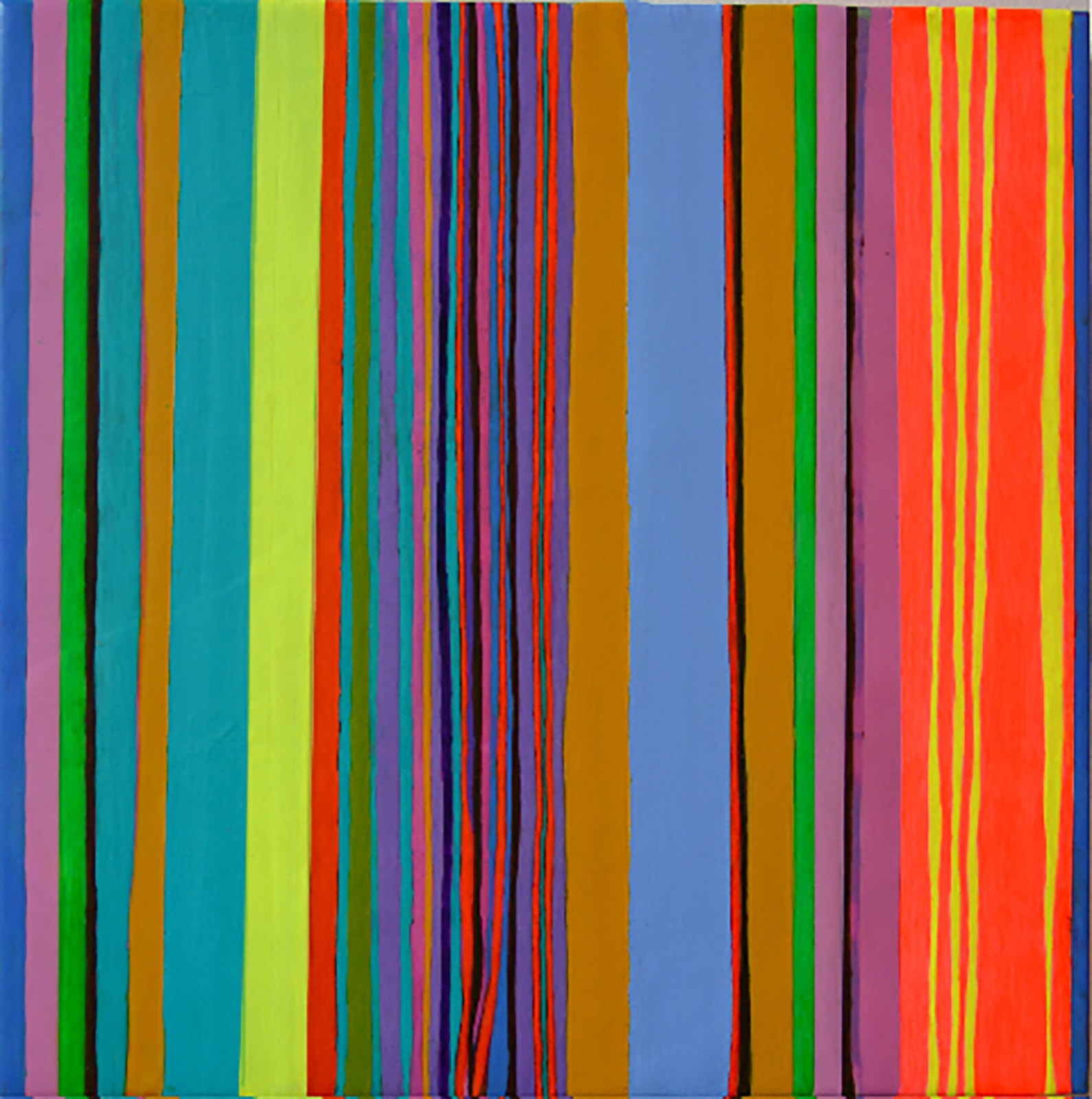 STRIPES, 2016 Acrylic on wood panel 12 x 12 in 30.5 x 30.5 cm HS 45
