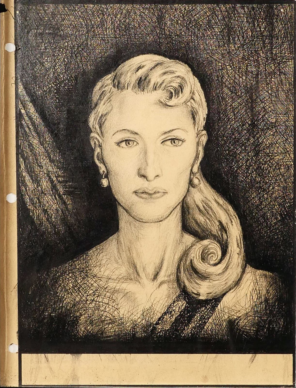 Julia Lindahl, head of Rocaterranian Youth Administration Girls Auxiliary, 1959 Black ink on sketch paper 11 x 8 1/2 in. (RK 131) $7,000