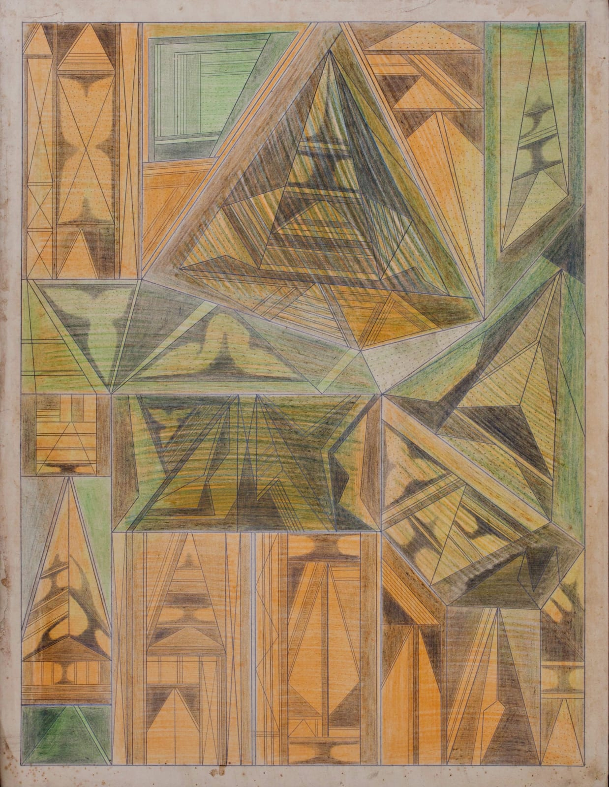 Untitled, ca. 1930 - 55 Colored pencil and graphite on paper 21 x 17 1/2 in. 53.3 x 44.5 cm. (DG 44)