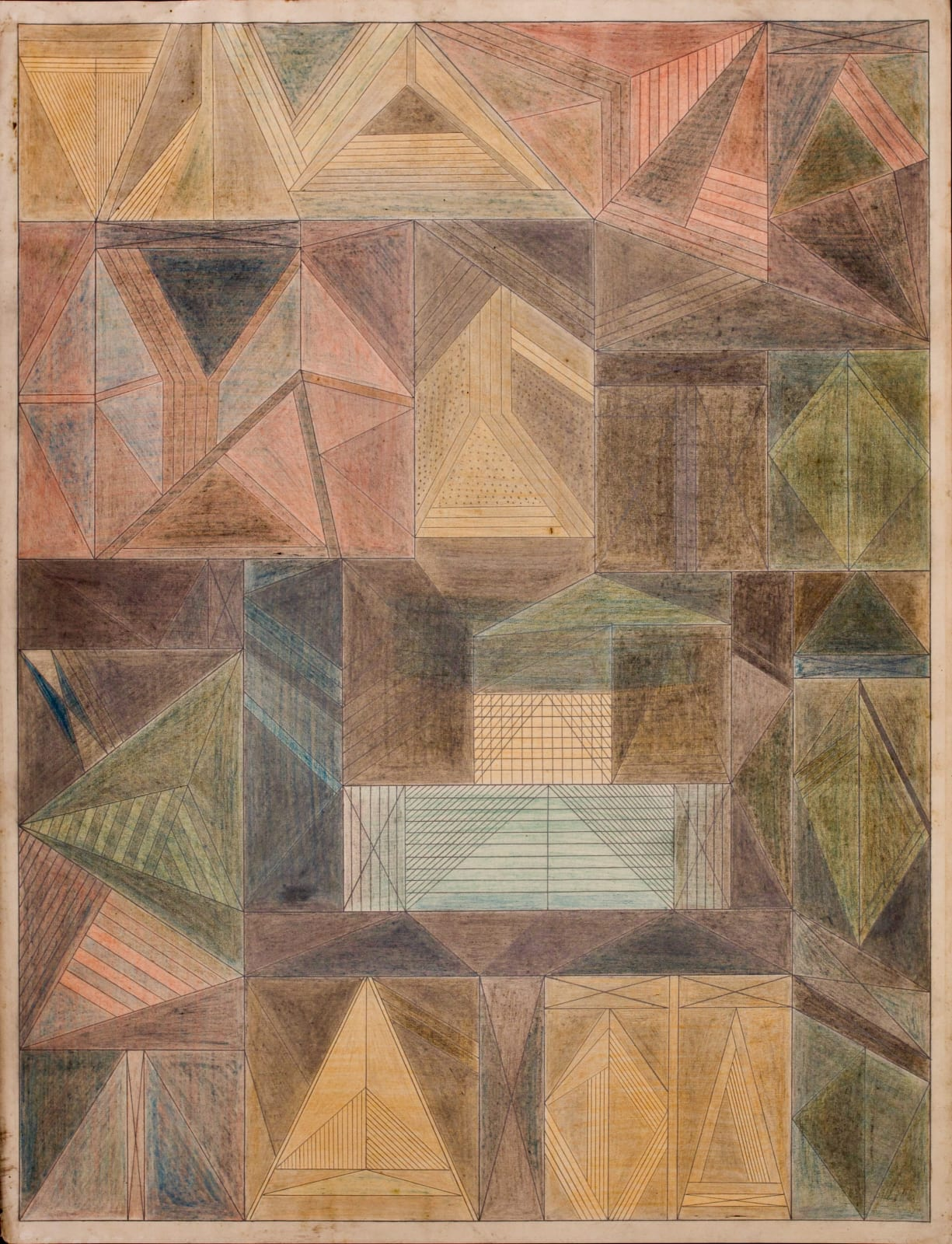 Untitled, ca. 1930 - 55 Colored pencil and graphite on paper 21 x 17 1/2 in. 53.3 x 44.5 cm. (DG 43)