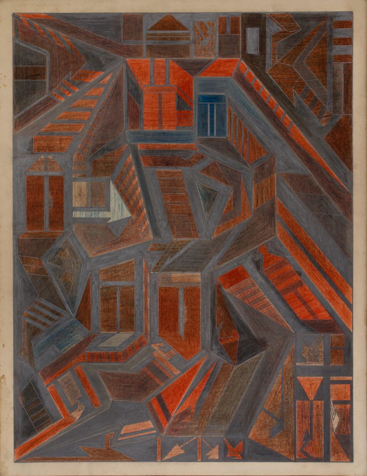 Untitled, ca. 1930 - 55 Colored pencil and graphite on paper 21 x 17 1/2 in. 53.3 x 44.5 cm. (DG 46)