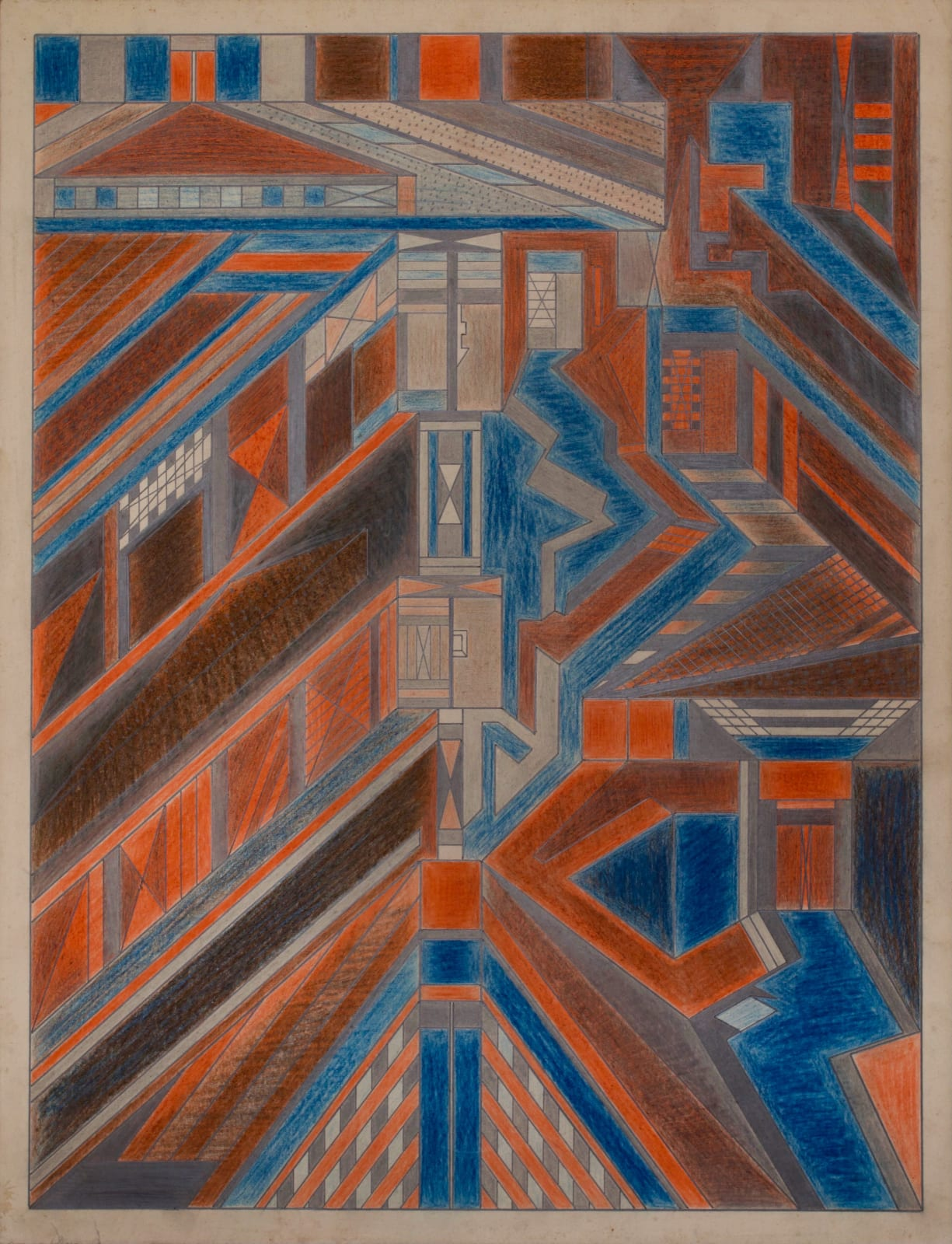 Untitled, ca. 1930 - 55 Colored pencil and graphite on paper 21 x 17 1/2 in. 53.3 x 44.5 cm. (DG 48)