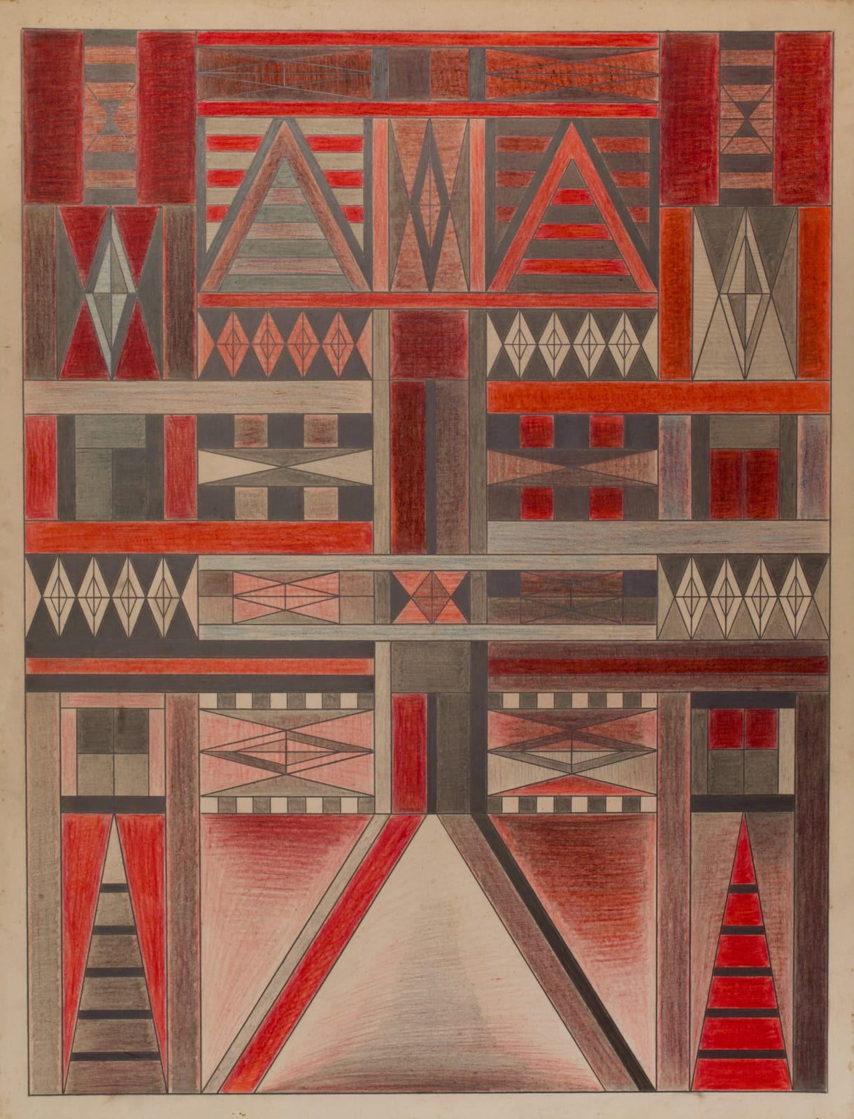 Untitled, ca. 1930 - 55 Colored pencil and graphite on paper 21 x 17 1/2 in. 53.3 x 44.5 cm. (DG 52)
