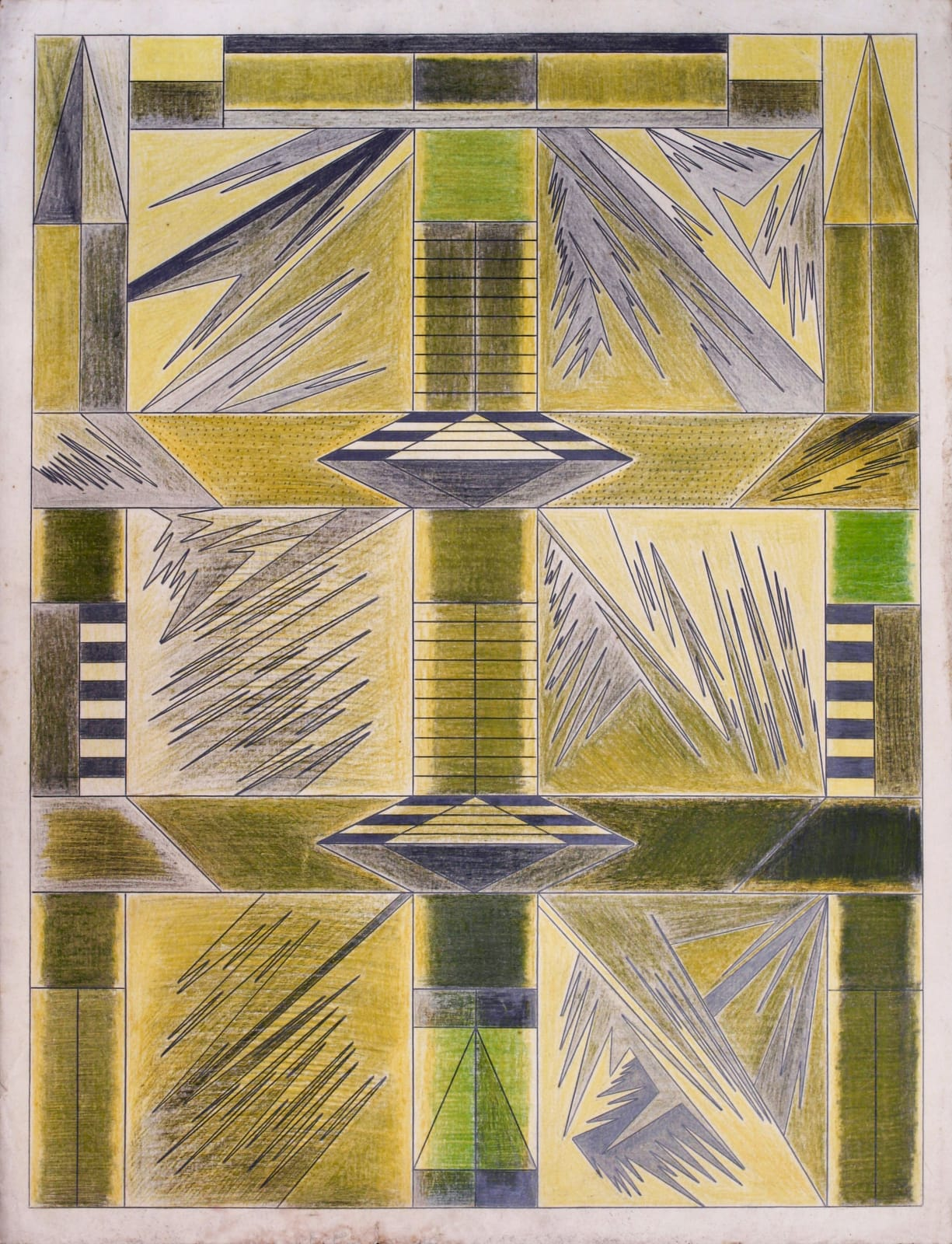 Untitled, ca. 1930 - 55 Colored pencil and graphite on paper 21 x 17 1/2 in. 53.3 x 44.5 cm. (DG 54)