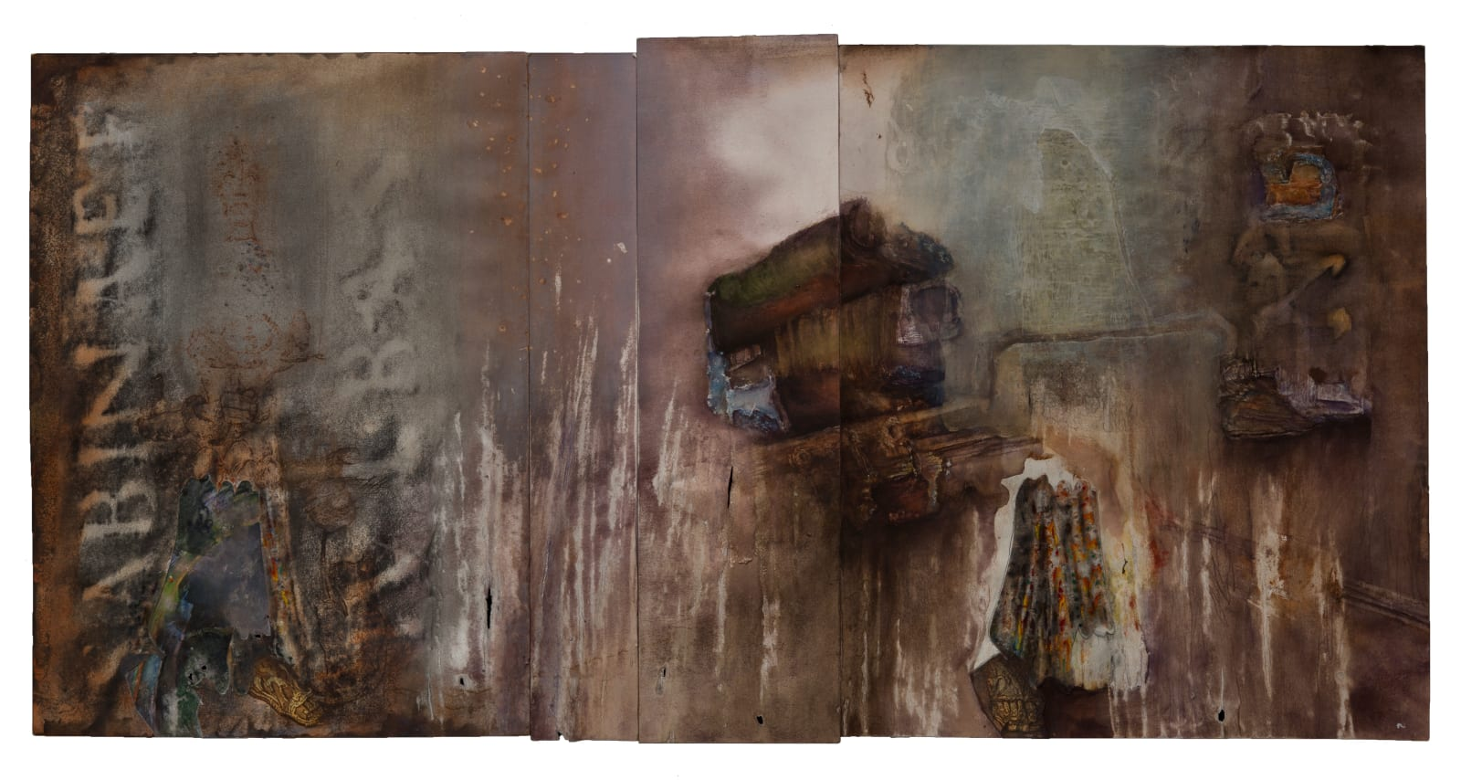 Liminatus Milosz, 2019 - 2020 Watercolor acrylic, ink, Conté crayon, graphite, and charcoal on pieced paper. 18.75 x 38.25 in. (TM 33) $7,500