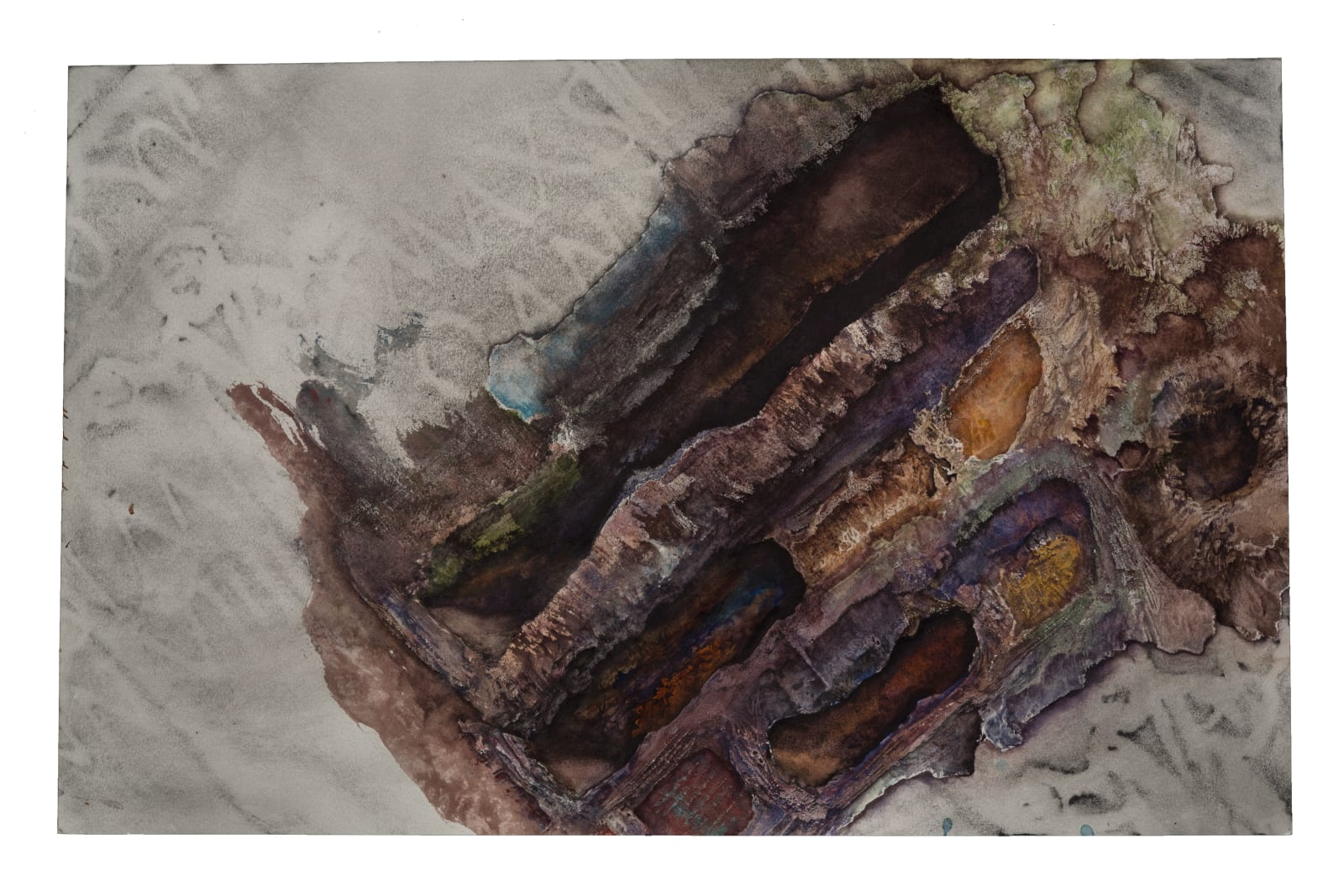 Liminatus Hikmet, 2008 - 2020 Watercolor, graphite, and frottage on paper. 12 x 19 in. (TM 29) $4,000