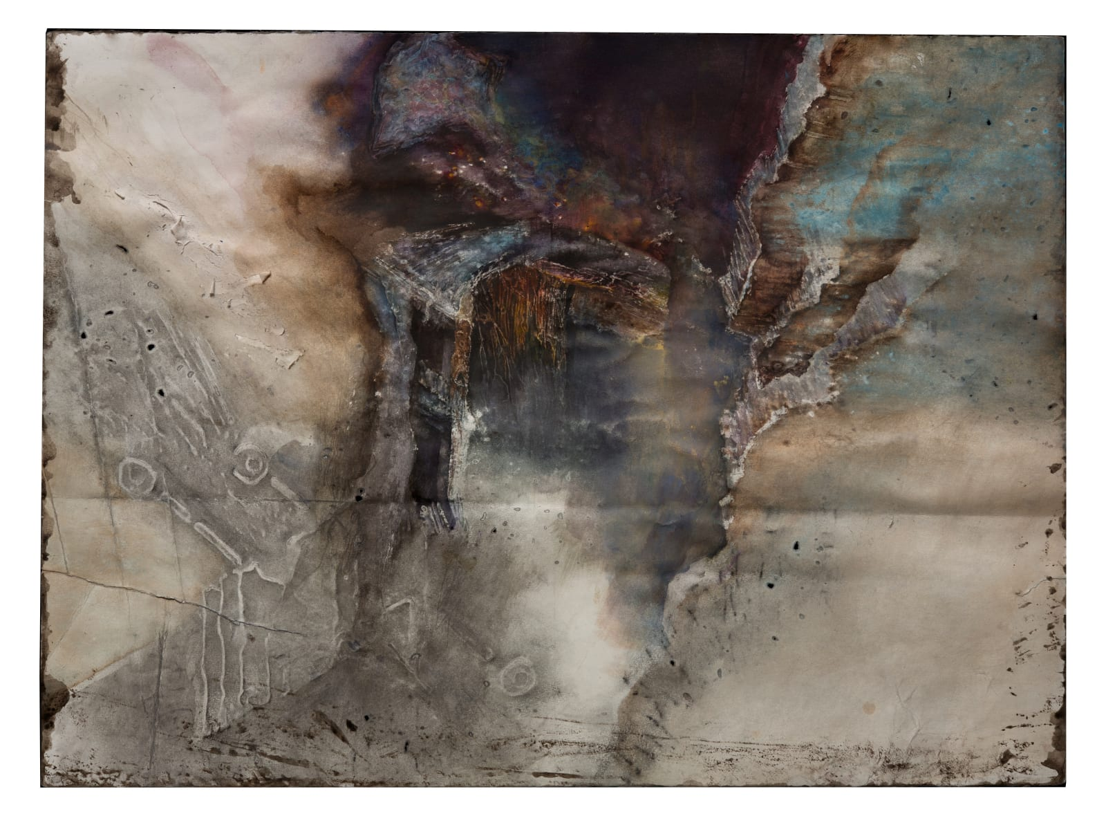 Liminatus Tarkovsky, 2020 Watercolor, acrylic, graphite, and woodcut on paper. 22 x 29.75 in. (TM 36) $6,500