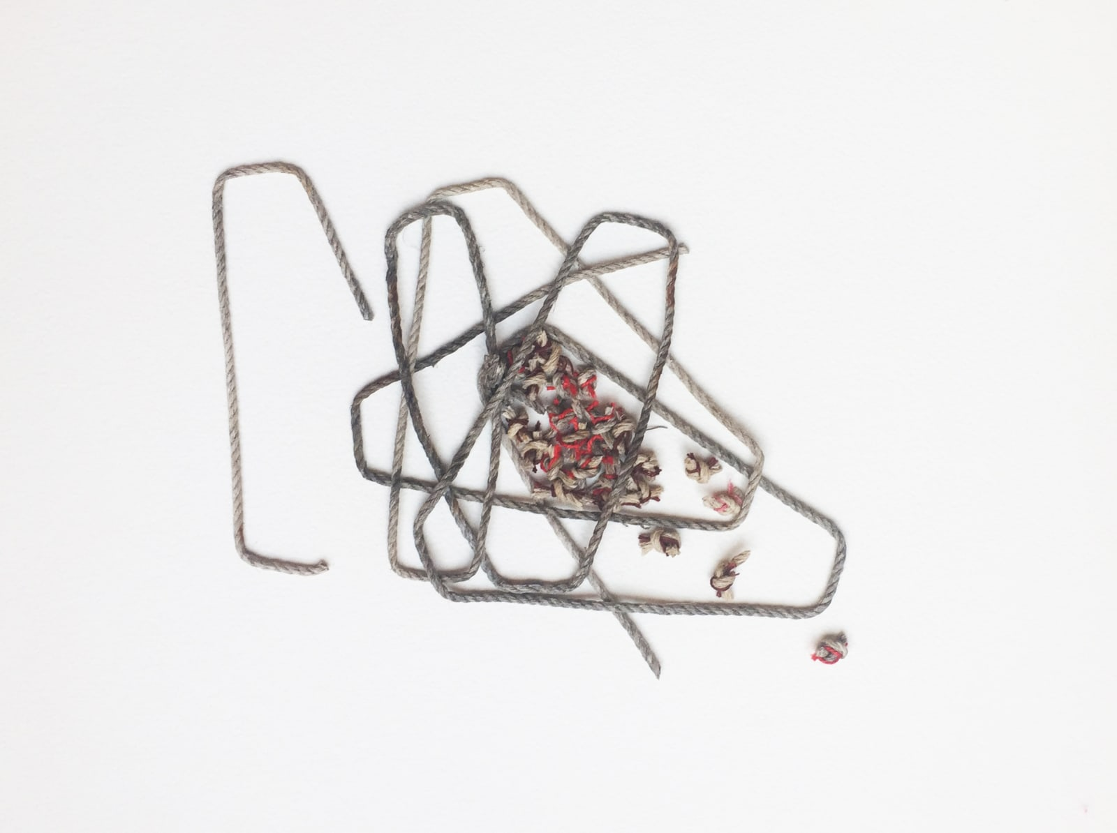 Toni Ross Cursive Drawing #6, 2019 Mixed media on paper 12 x 16 in. (TR 217) $3,200