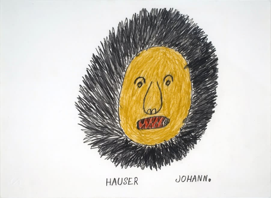 Untitled (Lion Head), 1984 Colored pencil and graphite on paper 11.9 x 15.9 in. (30 x 40 cm.) (JH 4) [Private Collection]