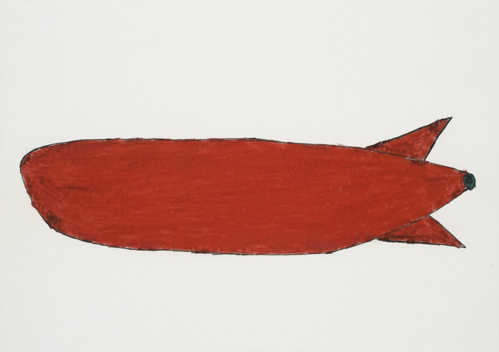 Rocket, 1971 Colored pencil and graphite on paper 8.25 x 11.5 in. (21 x 29.2 cm.) (JH 8) [Private Collection]