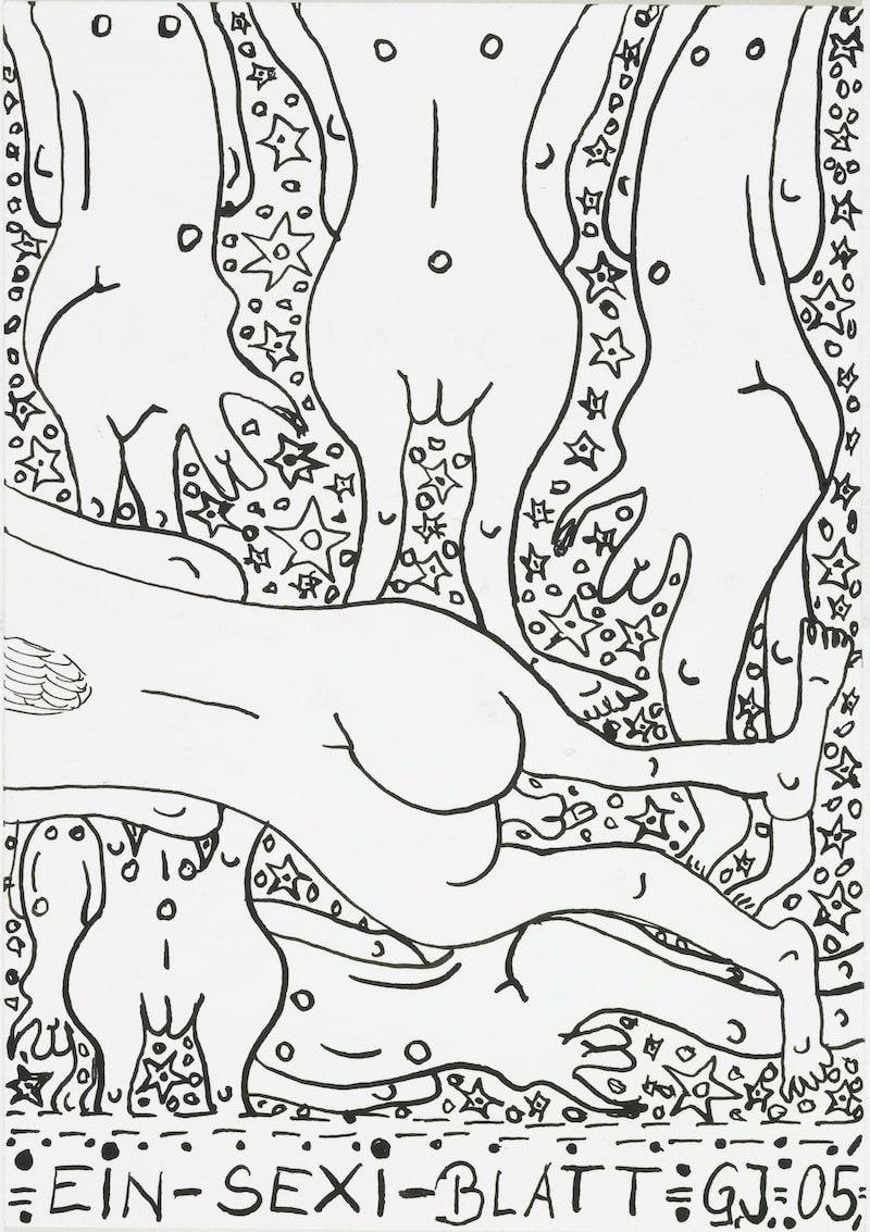 A Sexi-Paper, 2005 India Ink on white wove paper 6 x 4.25 in. (15.24 x 10.8 cm.) (JGG 5) $3,000