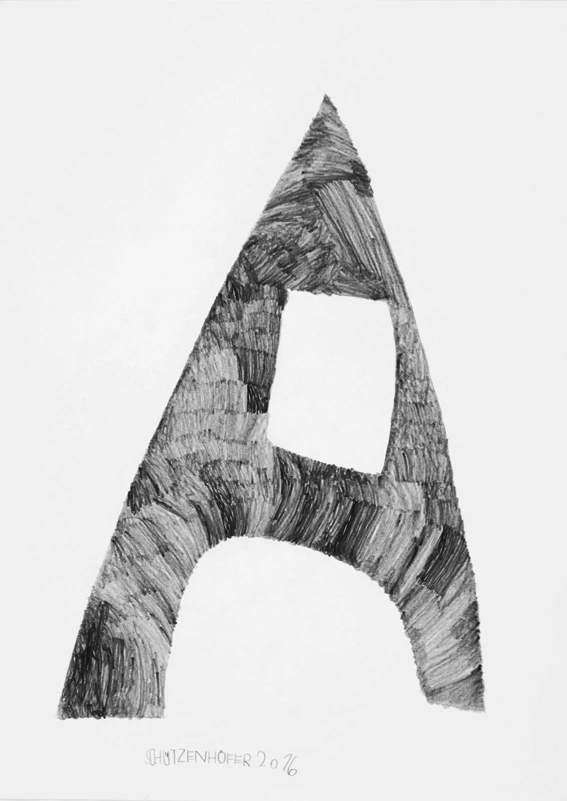 Eiffel Tower, 2016 Graphite on paper 27.6 x 19.7 in. (70 x 50 cm.) (GSG 106) SOLD