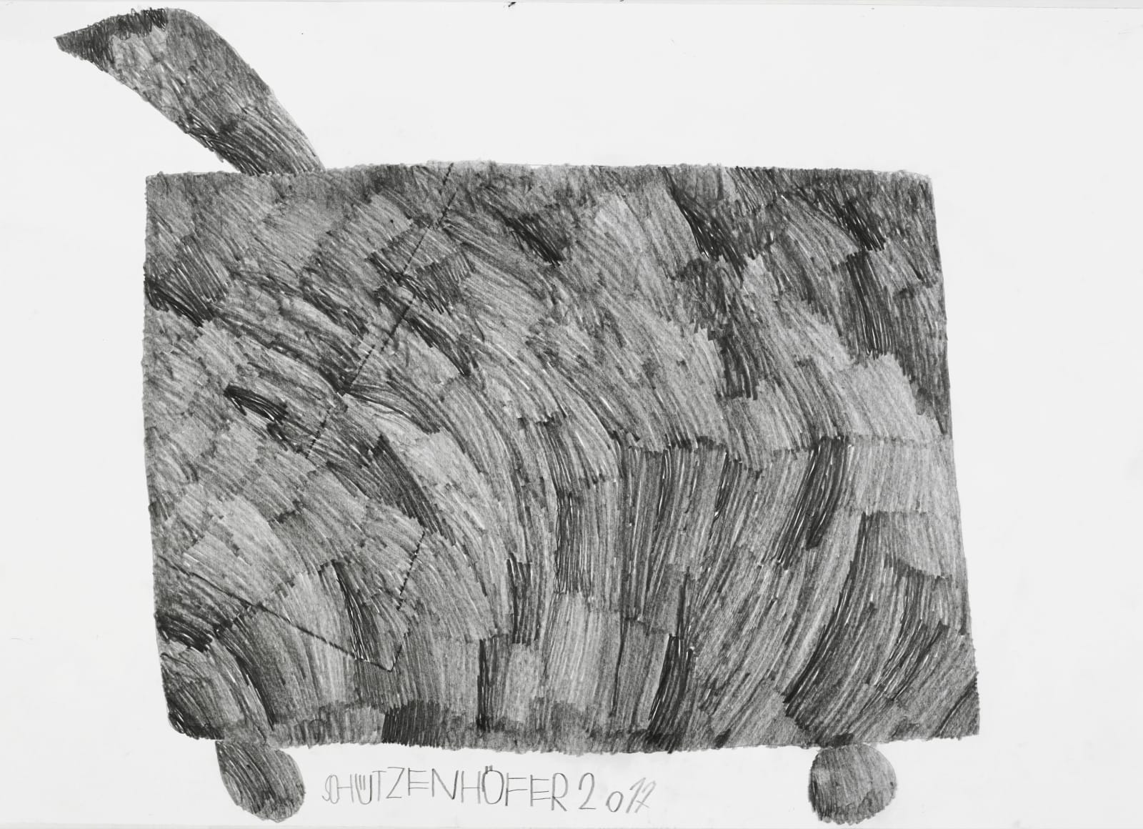 Grass cutter, 2017 Graphite on paper 19.8 x 27.6 in. (50.2 x 70.1 cm.) (GSG 109) SOLD