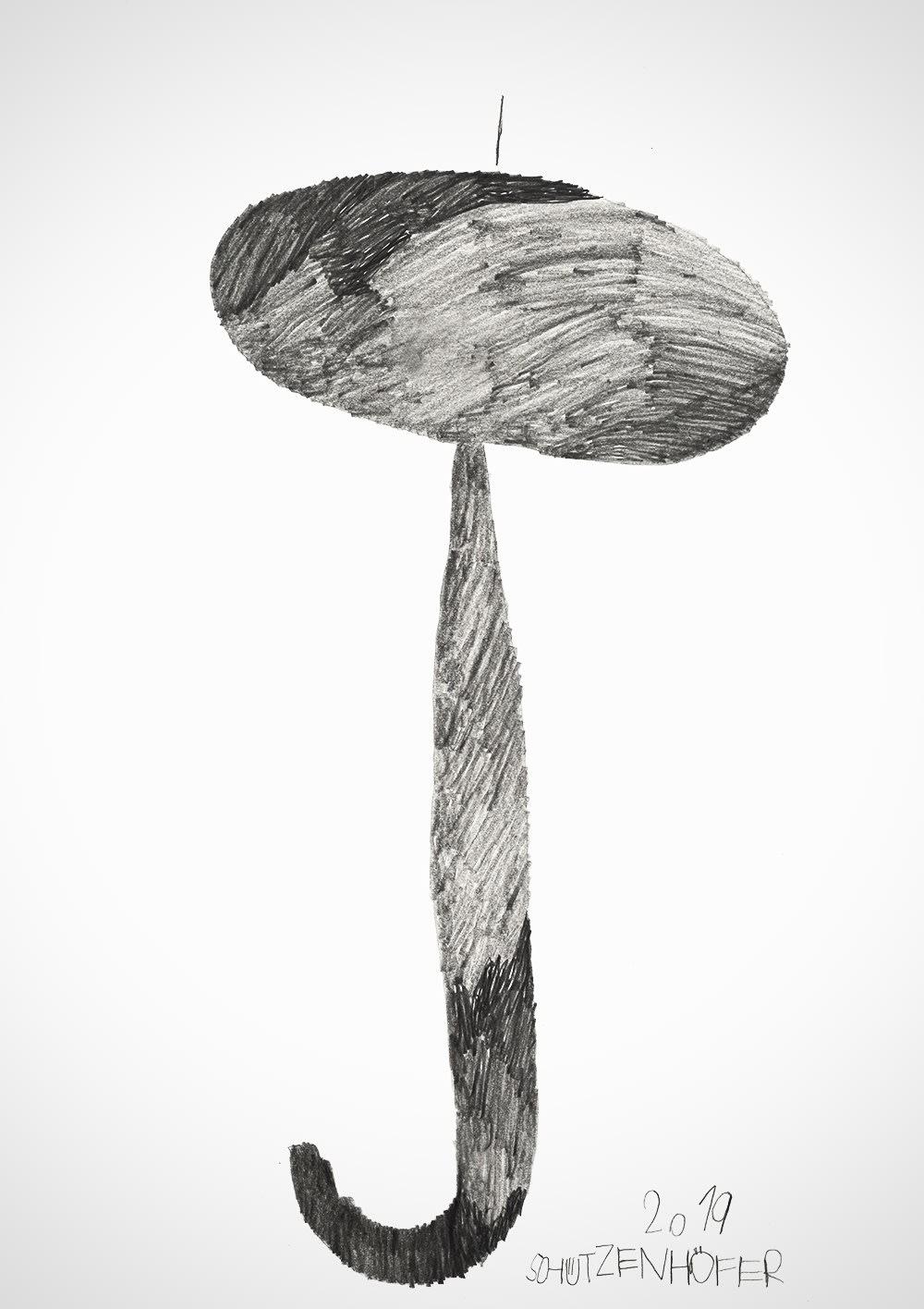 Sunshade, 2019 Graphite on paper 27.5 x 19.8 in. (70 x 50 cm.) (GSG 116) $7,000