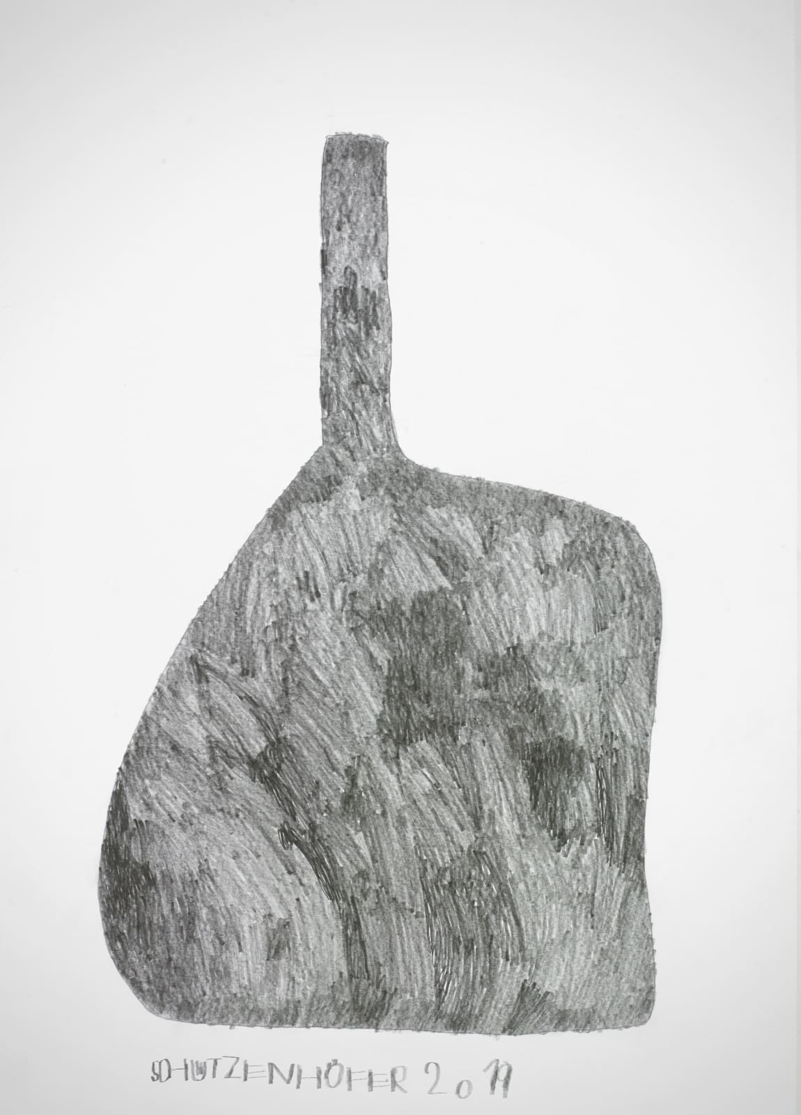 Bottle, 2019 Graphite on paper 27.6 x 19.7 x in. (70.1 x 50 cm.) (GSG 120) $7,000