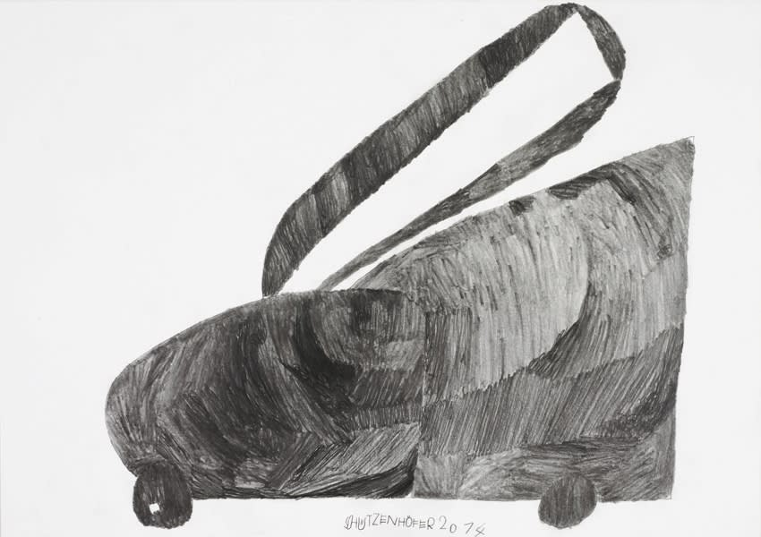 Lawn Mower, 2014 Graphite on paper 17.3 x 24.6 in. (43.9 x 62.5 cm.) (GSG 74) SOLD