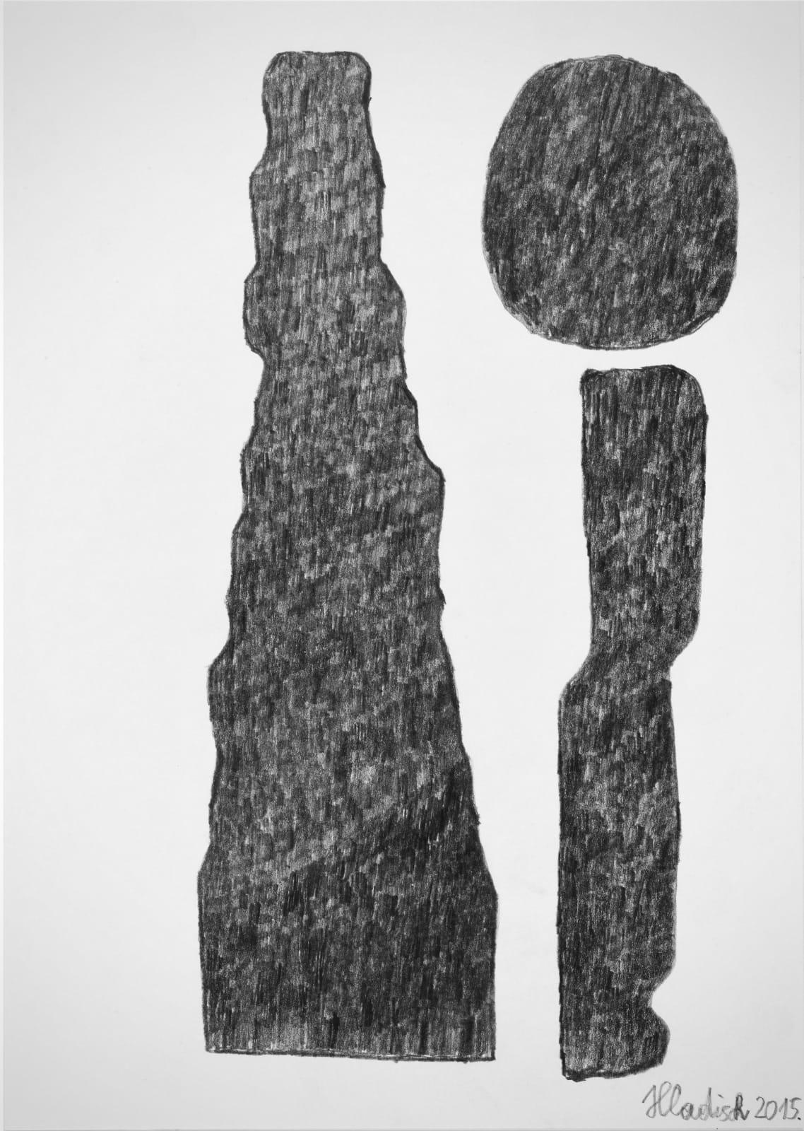 Cone, 2015 Graphite on paper 11.7 x 8.3 in. (29.7 x 21 cm.) (HH 13) $3,000