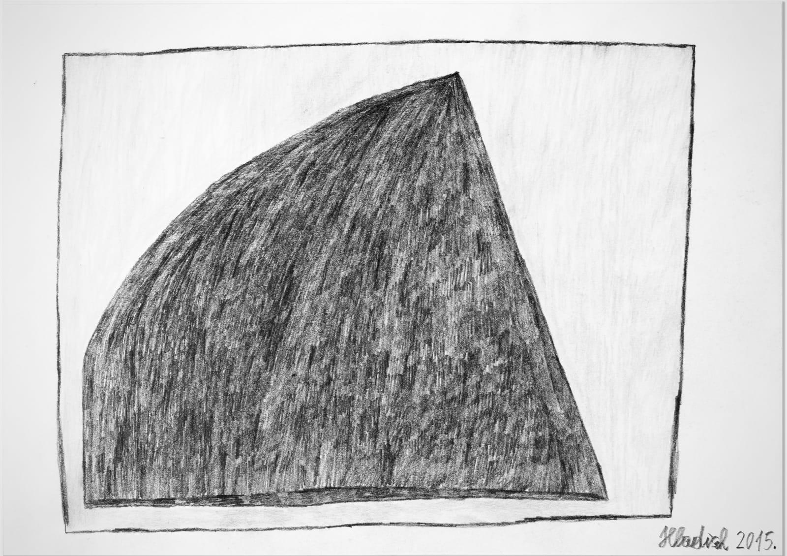 Pyramid, 2015 Graphite and colored pencil on paper 8.2 x 11.7 in. (20.9 x 29.6 cm.) (HH 18) $3,000