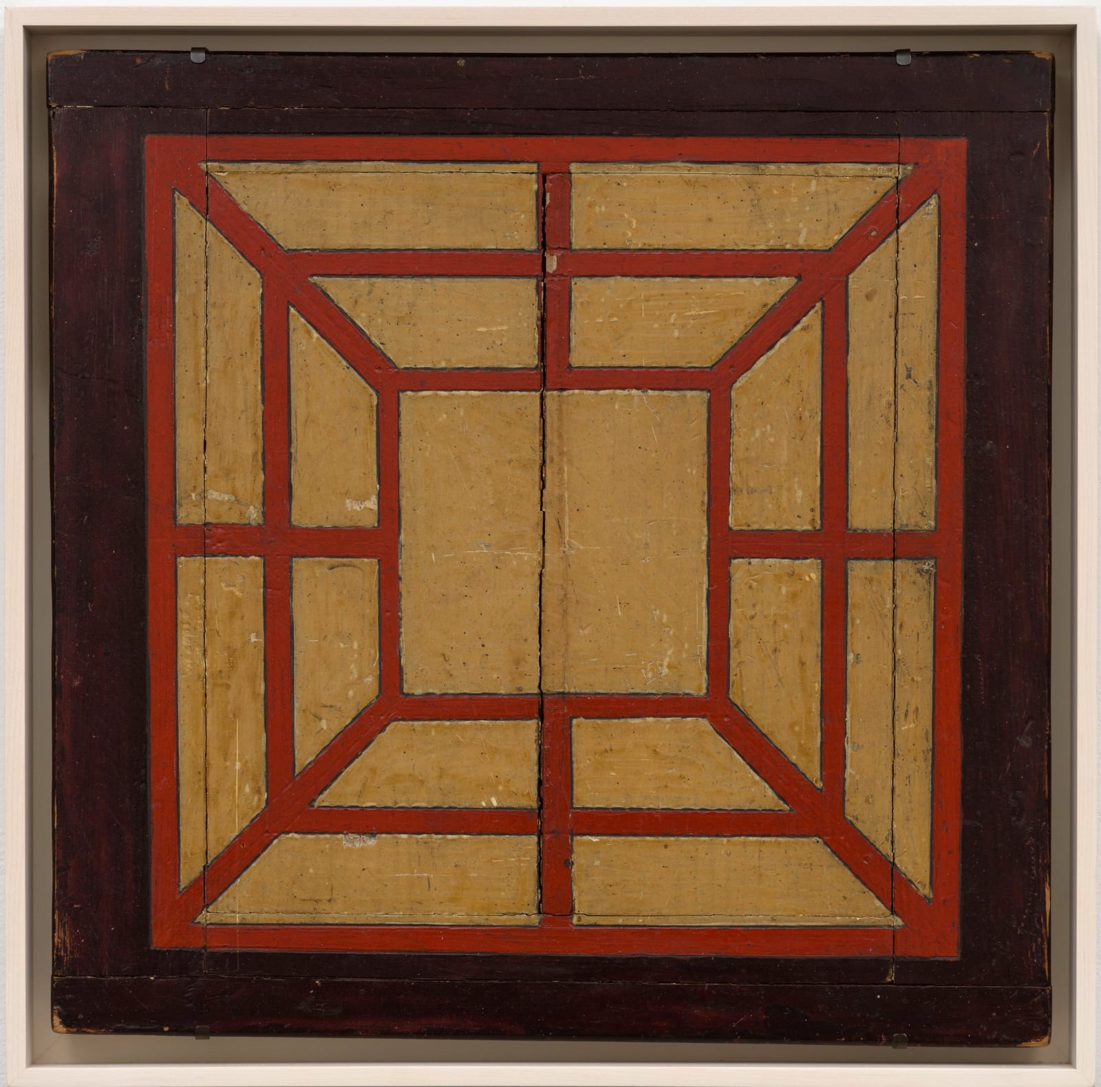MILLS GAME BOARD, C. 1910-20 Oil enamel on wood panel 17 1/4 x 18 1/4 in. (AU 306)