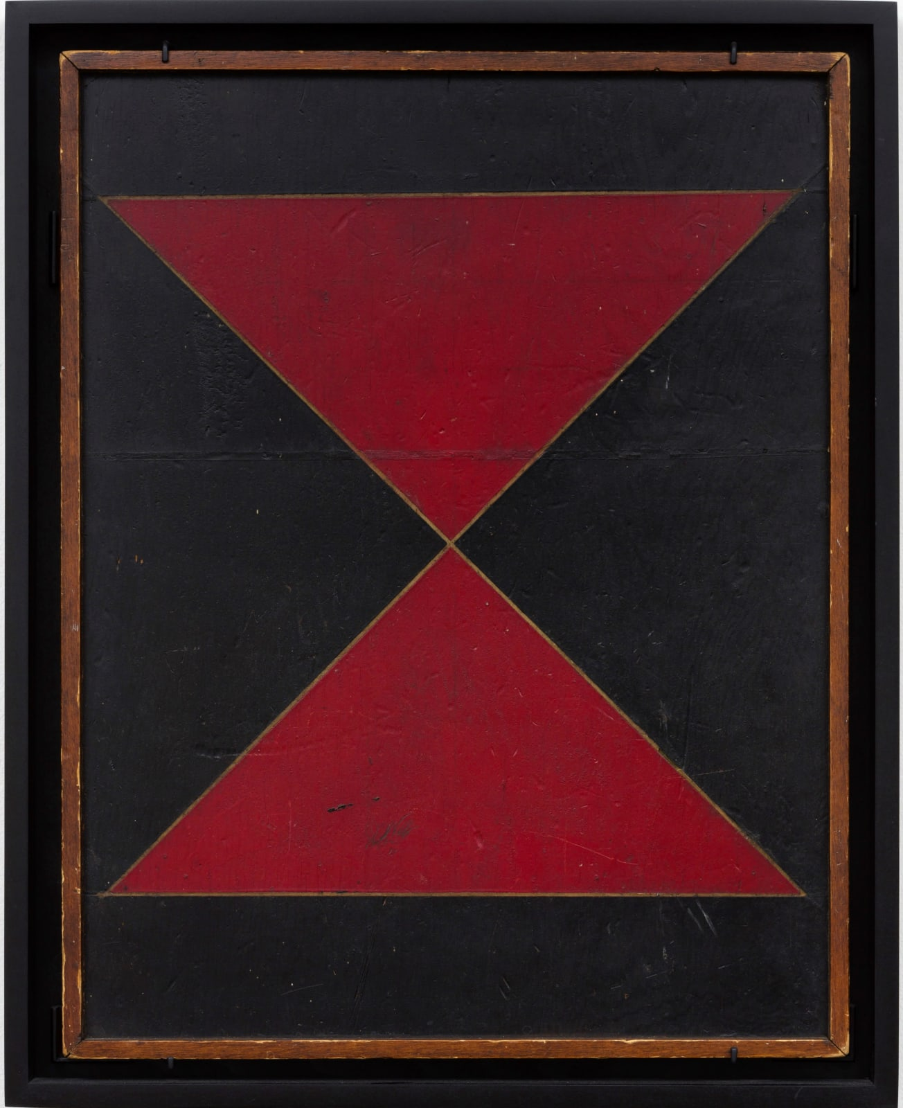 GAME BOARD, LATE 19TH CENTURY Oil enamel on wood panel 22 3/8 x 18 in. 56.8 x 45.7 cm. (AU 284)