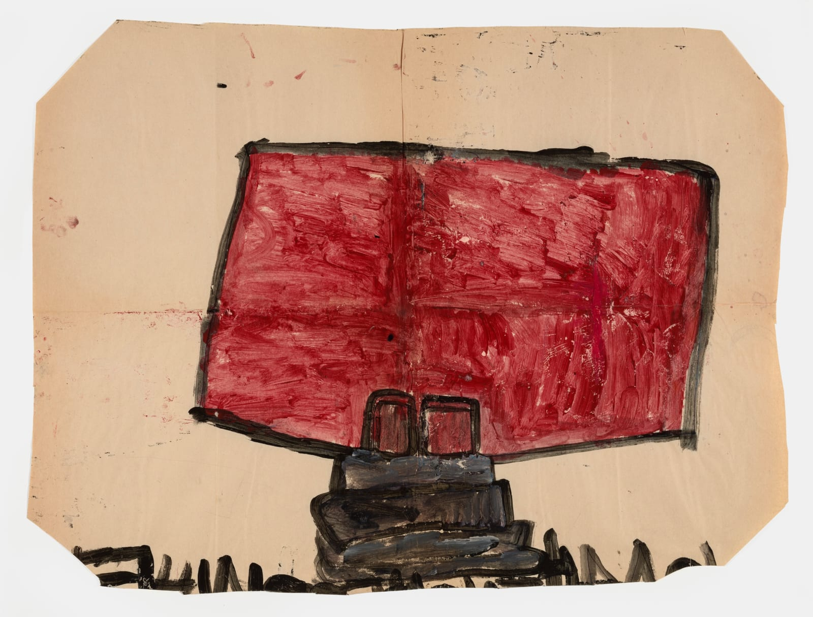 Untitled (No.18), 1972-1980 Tempera on paper 21 x 28 in (53.3 x 71.1 cm) (LM 158)