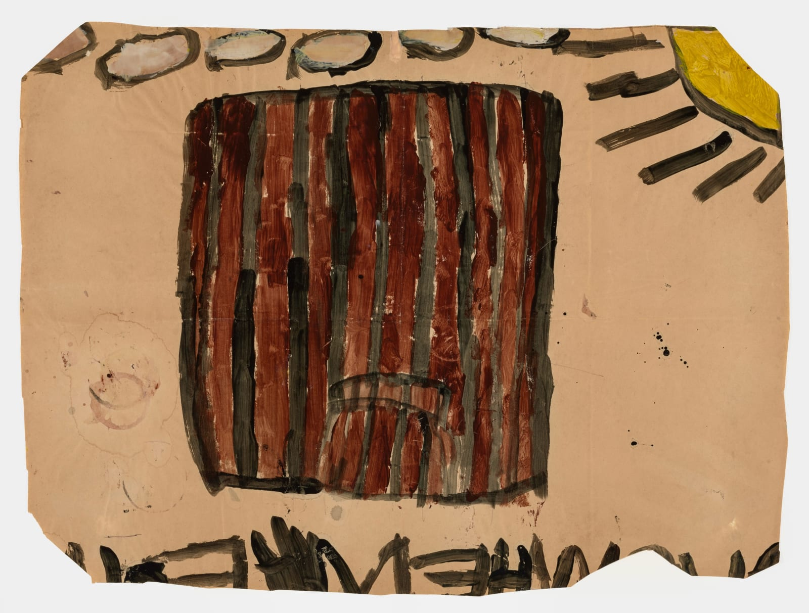 Untitled (No.16), 1972-1980 Tempera on paper 21 x 28 in (53.3 x 71.1 cm) (LM 128)