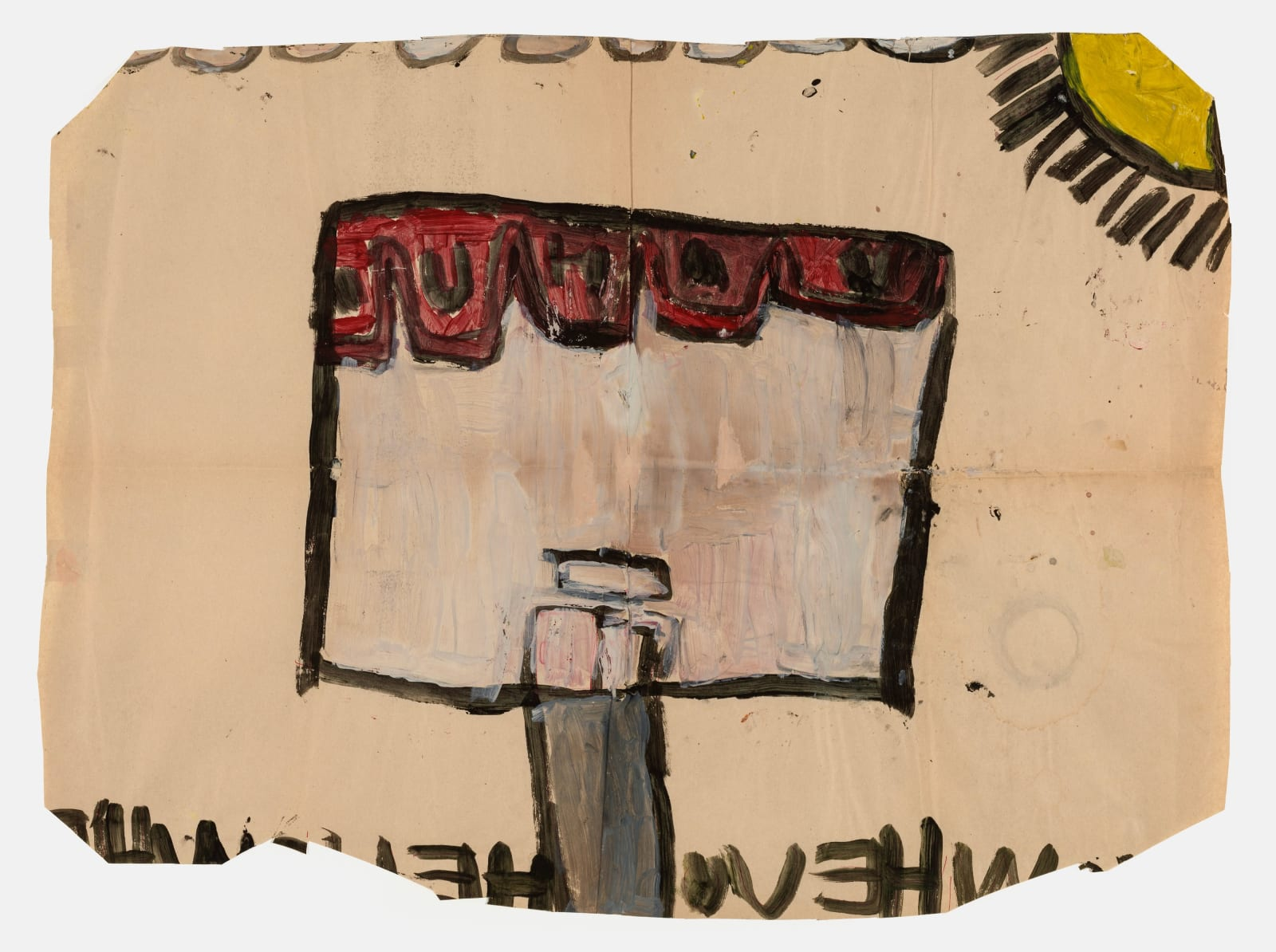 Untitled (No. 13), 1972-1980 Tempera on paper 21 x 28.5 in (53.3 x 72.4 cm) (LM 103) SOLD