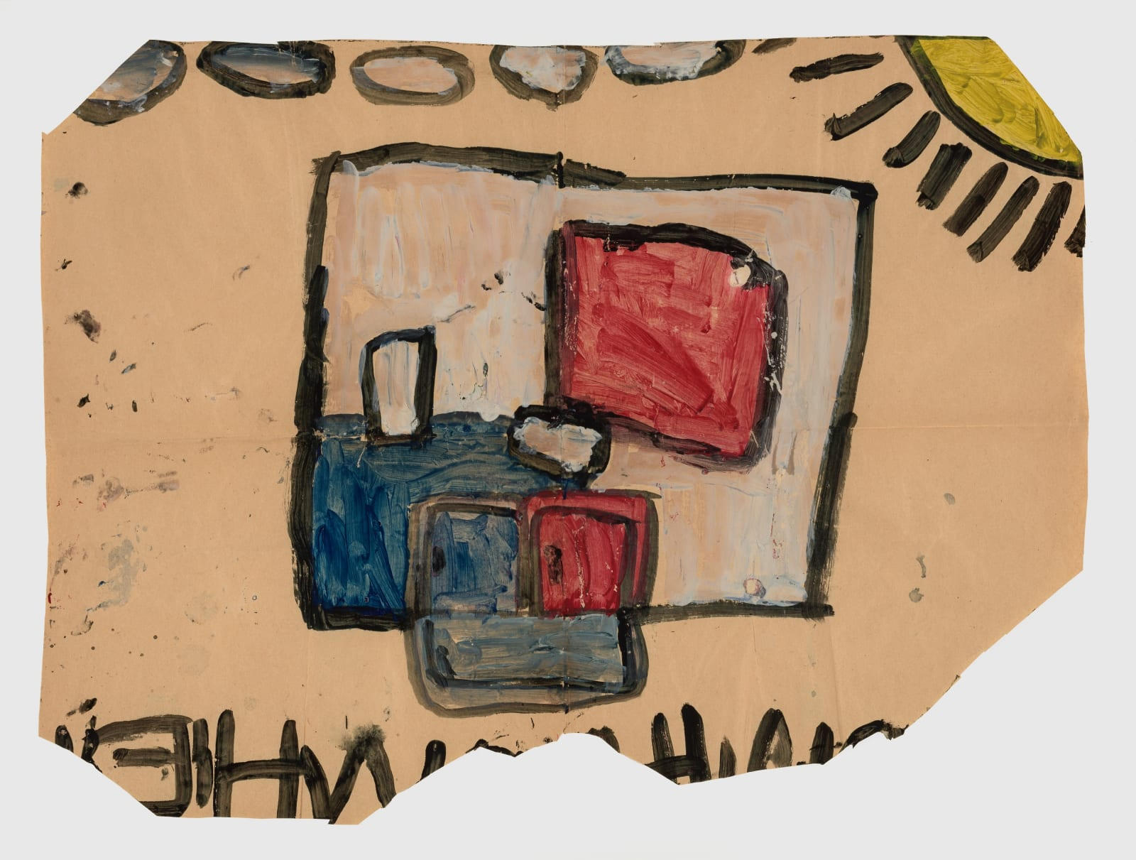 Untitled, 1972-1980 Tempera on paper 20.25 x 27.5 in (51.4 x 69.8 cm) (LM 64)