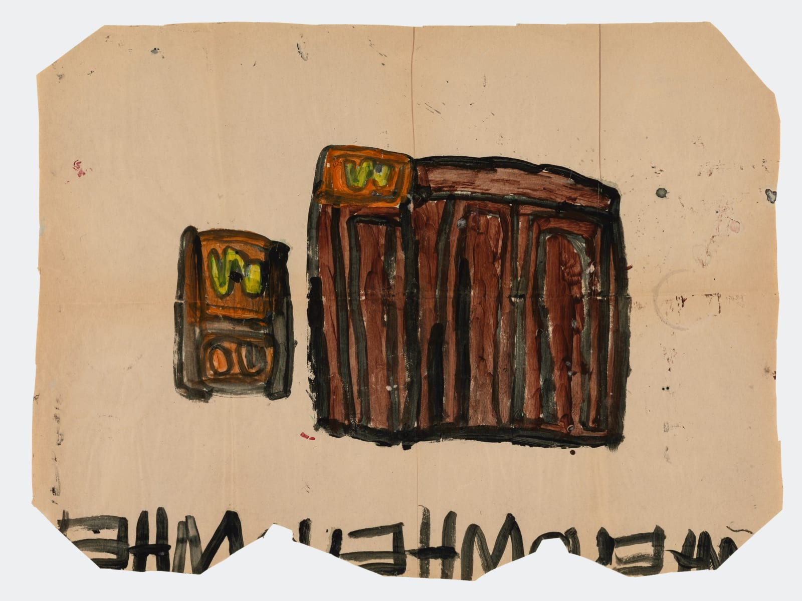 Untitled (No.20), 1972-1980 Tempera on paper 21 x 28 in (53.3 x 71.1 cm) (LM 168)