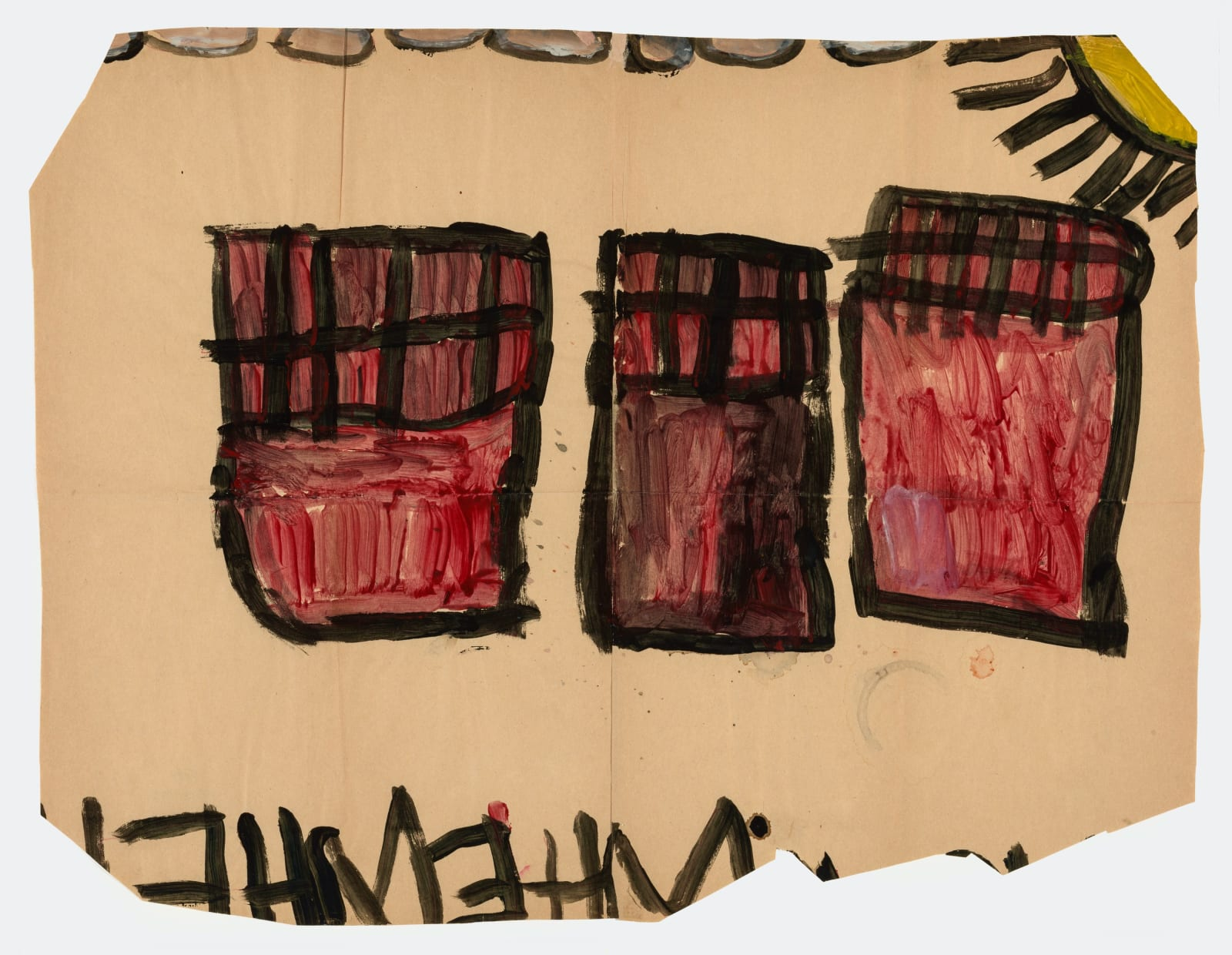 Untitled, 1972-1980 Tempera on paper 21.5 x 28.5 in (54.6 x 72.4 cm) (LM 2)