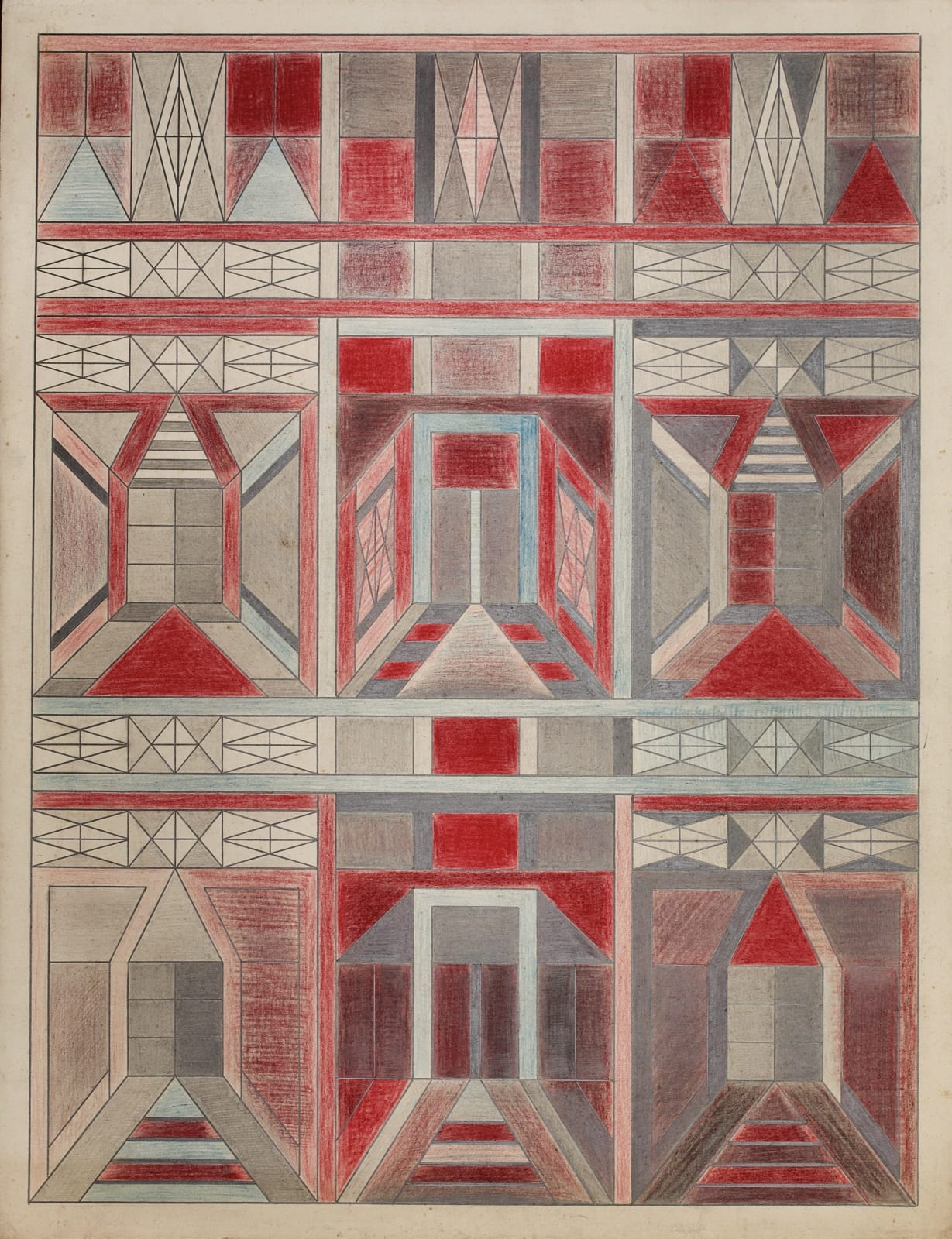 Untitled, ca. 1930 - 55 Colored pencil and graphite on paper 21 x 17 1/2 in. 53.3 x 44.5 cm. (DG 45)