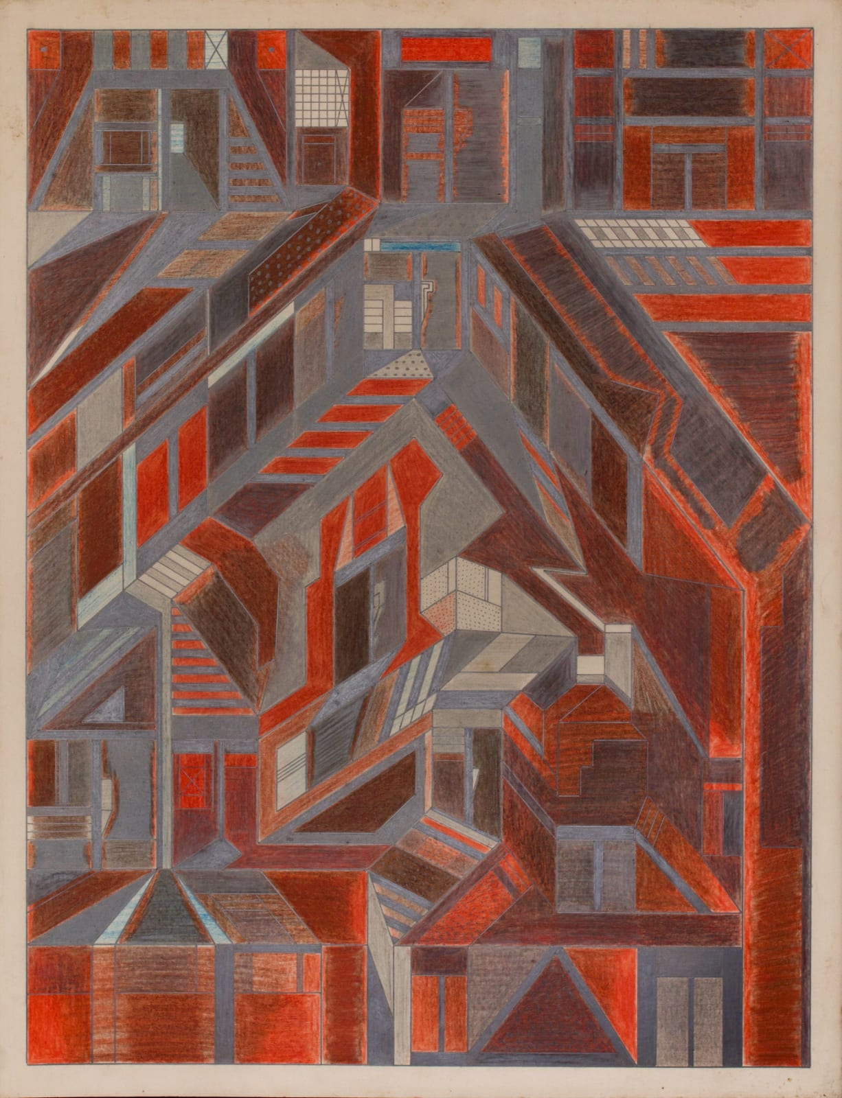 Untitled, ca. 1930 - 55 Colored pencil and graphite on paper 21 x 17 1/2 in. 53.3 x 44.5 cm. (DG 47)