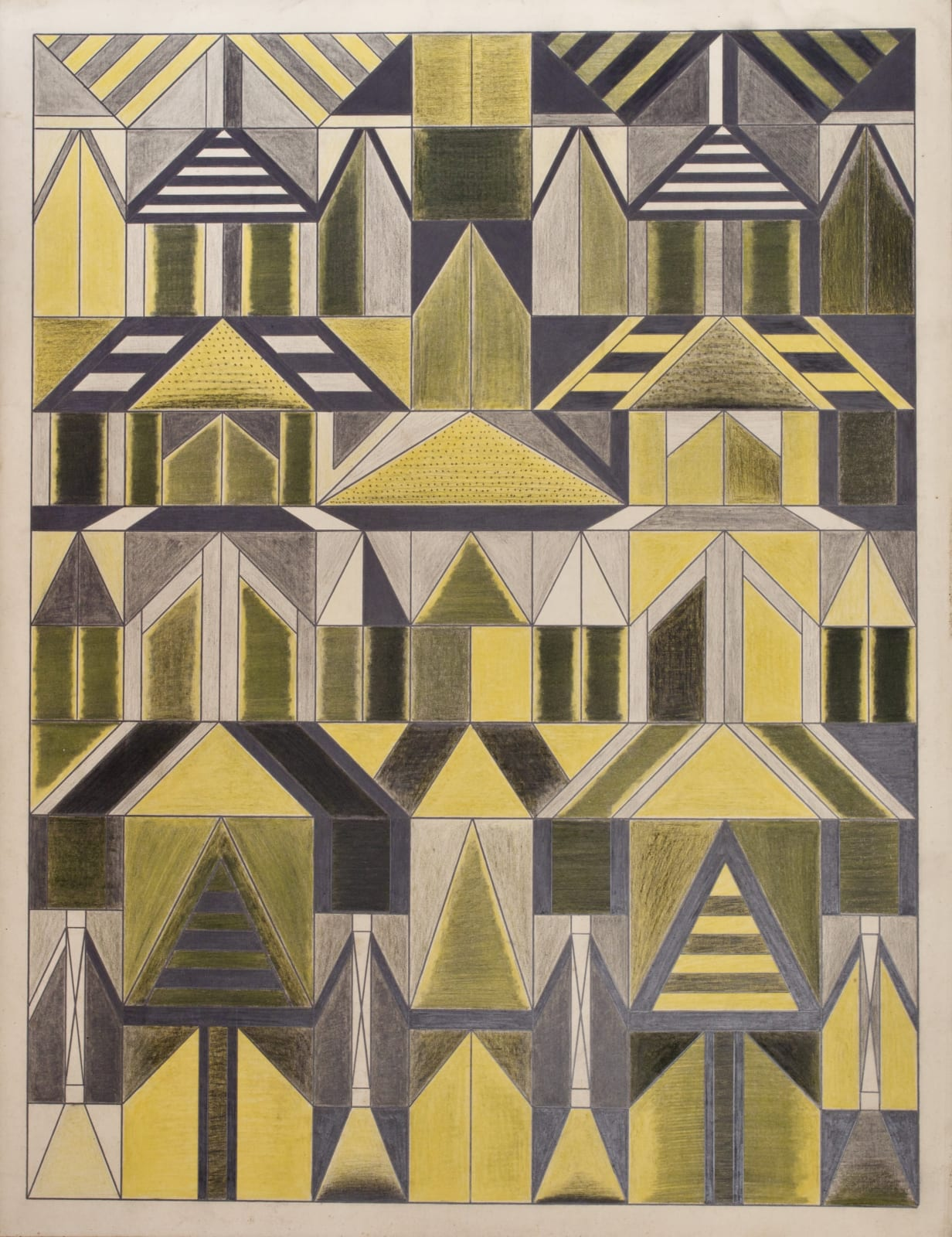 Untitled, ca. 1930 - 55 Colored pencil and graphite on paper 21 x 17 1/2 in. 53.3 x 44.5 cm. (DG 53)