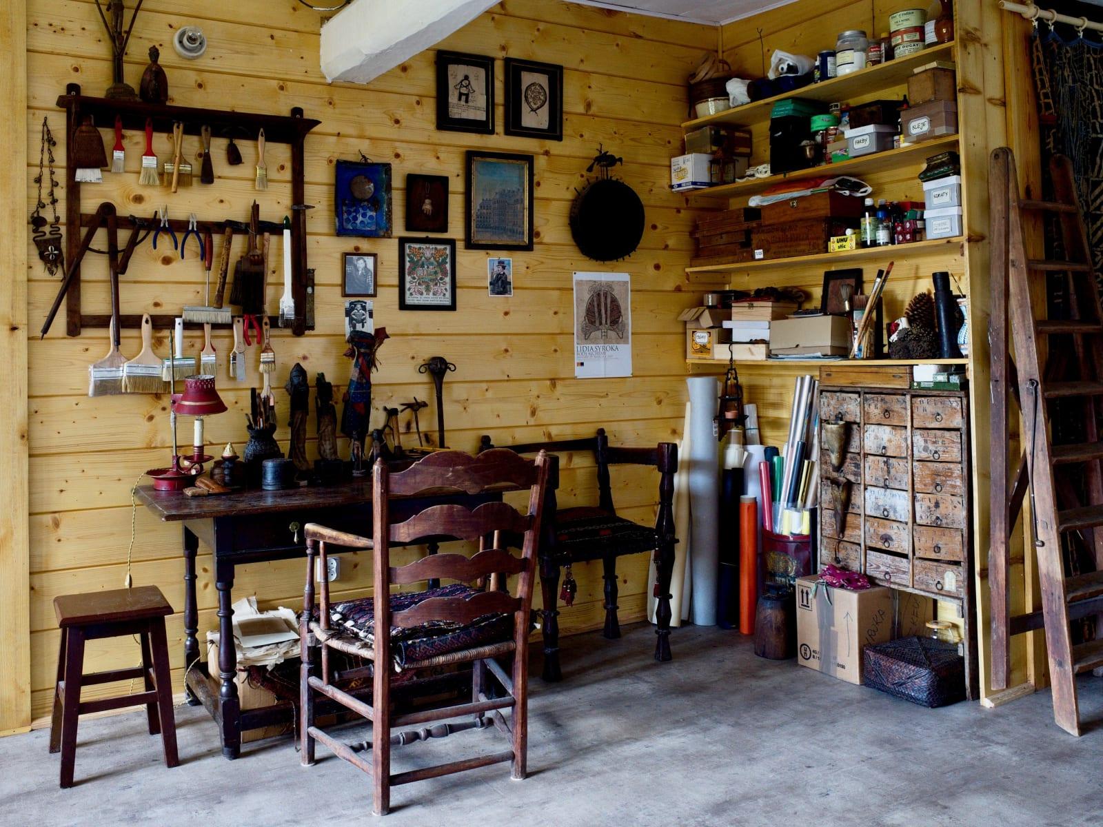 Lidia Syroka's new studio near Kraków.