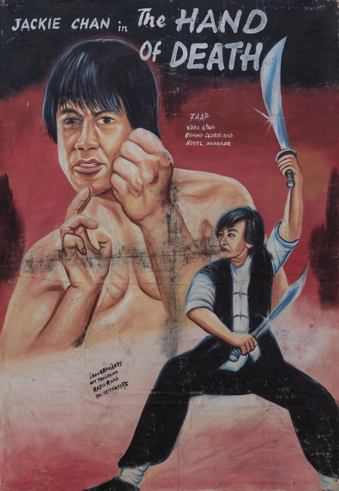 Jackie Chan in the Hand of Death 154 x 115 cm