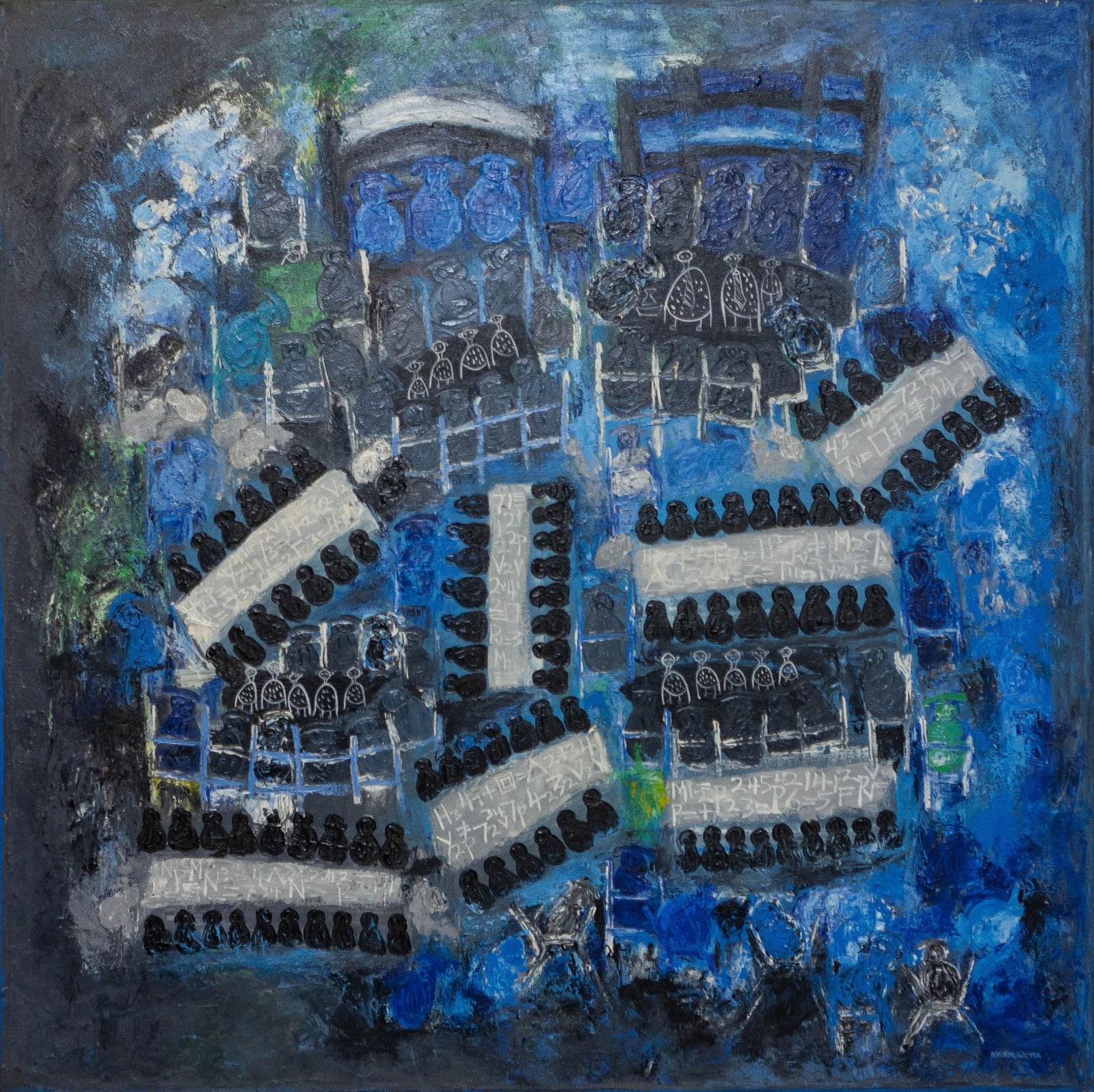 Nyornuwofia Agorsor Higher discussion (2015) 120 x 120 cm Acrylic on canvas