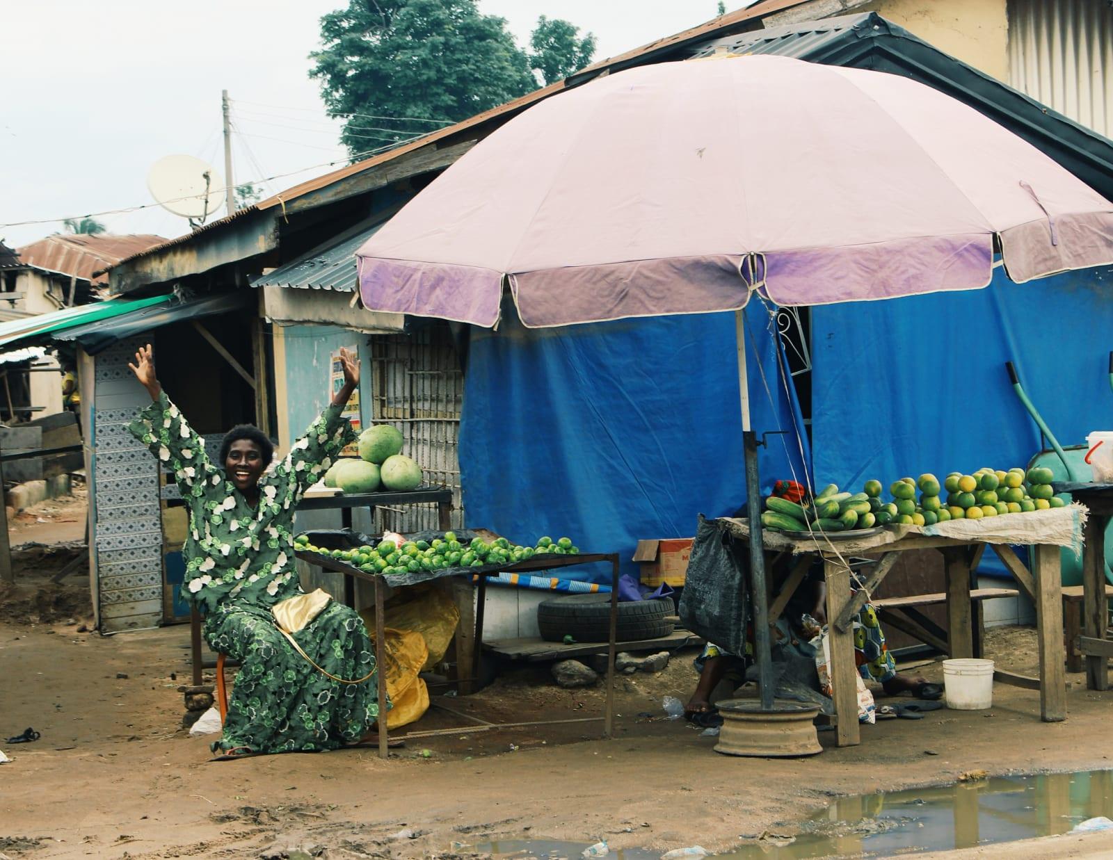 Arinzechukwu Patrick A market woman 38.24 x 29.7 cm 27.16 x 21 cm Digital print