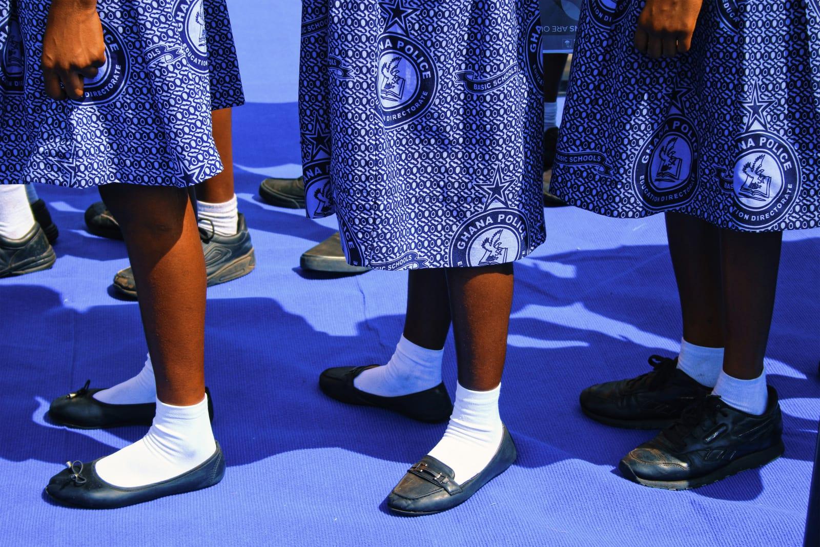 Arinzechukwu Patrick Ghana Police Children School march pass 59.4 x 39.83 cm 42 x 28.02 cm 29.7 x 19.8 cm Digital print