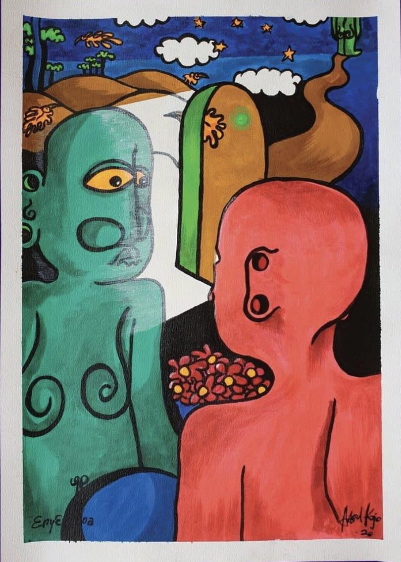 Artsoul Kojo 3ny3 woa (Not you) 42 x 60 cm Painting