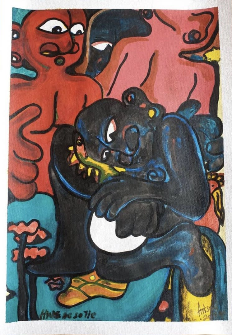 Artsoul Kojo Hw3 no so Yie (Take care of it well) 42 x 60 cm Painting